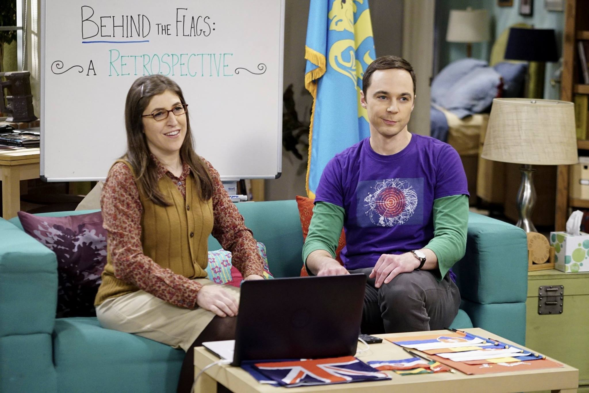 "Actors Mayim Bialik and Jim Parsons are shown in a scene from ""The Big Bang Theory,"" which starts its new season Monday on CBS. Bialik has just released a new book titled ""Girling Up: How to Be Strong, Smart and Spectacular."""