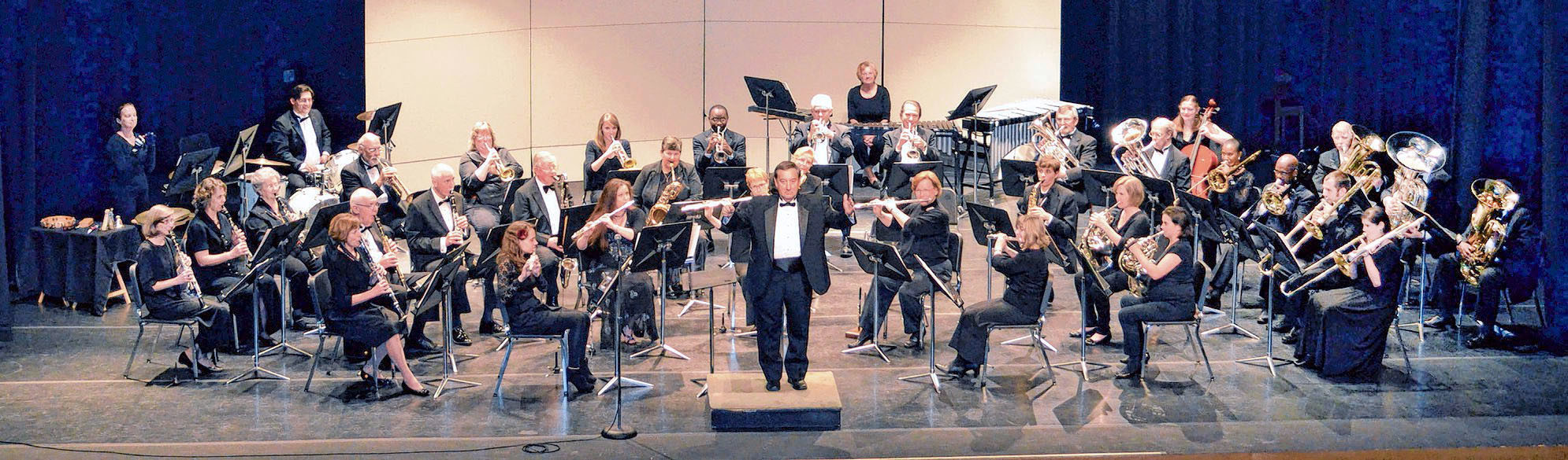 "The Sumter Community Concert Band, directed by James H. ""Jimmy"" Mills, front center, will present its fall concert at 3 p.m. Sunday at Patriot Hall. Admission is free, and the public is invited to attend."