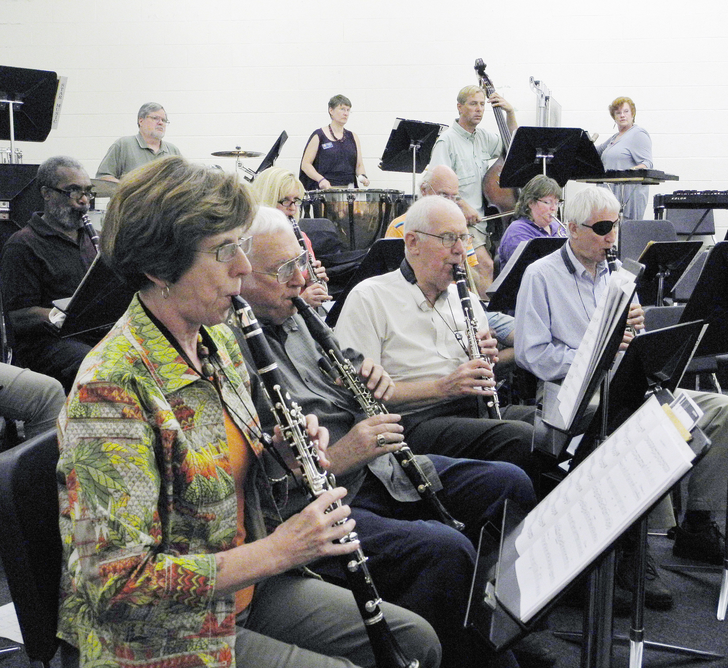 "The clarinet and percussion sections are shown at a past rehearsal with the Sumter Community Concert Band. The band directed by James H. ""Jimmy"" Mills begins Sunday with a 3 p.m. concert at Patriot Hall."