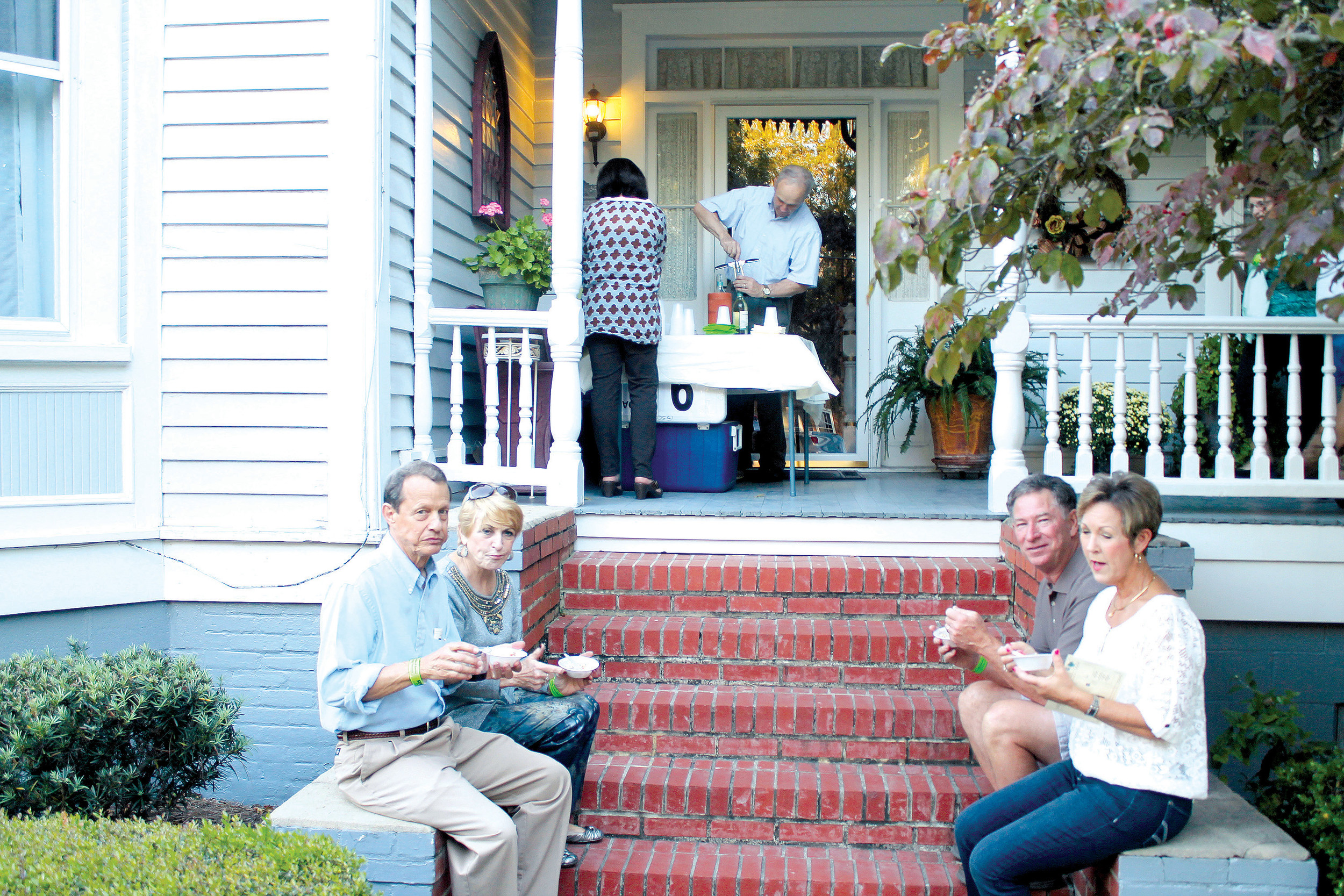 Participants in the 2016 Porches of Sumter event sponsored by Greater Sumter Chamber of Commerce with signature sponsor FTC enjoy a chat and some good food. This year's event will take place from 6 to 9 p.m. Thursday.
