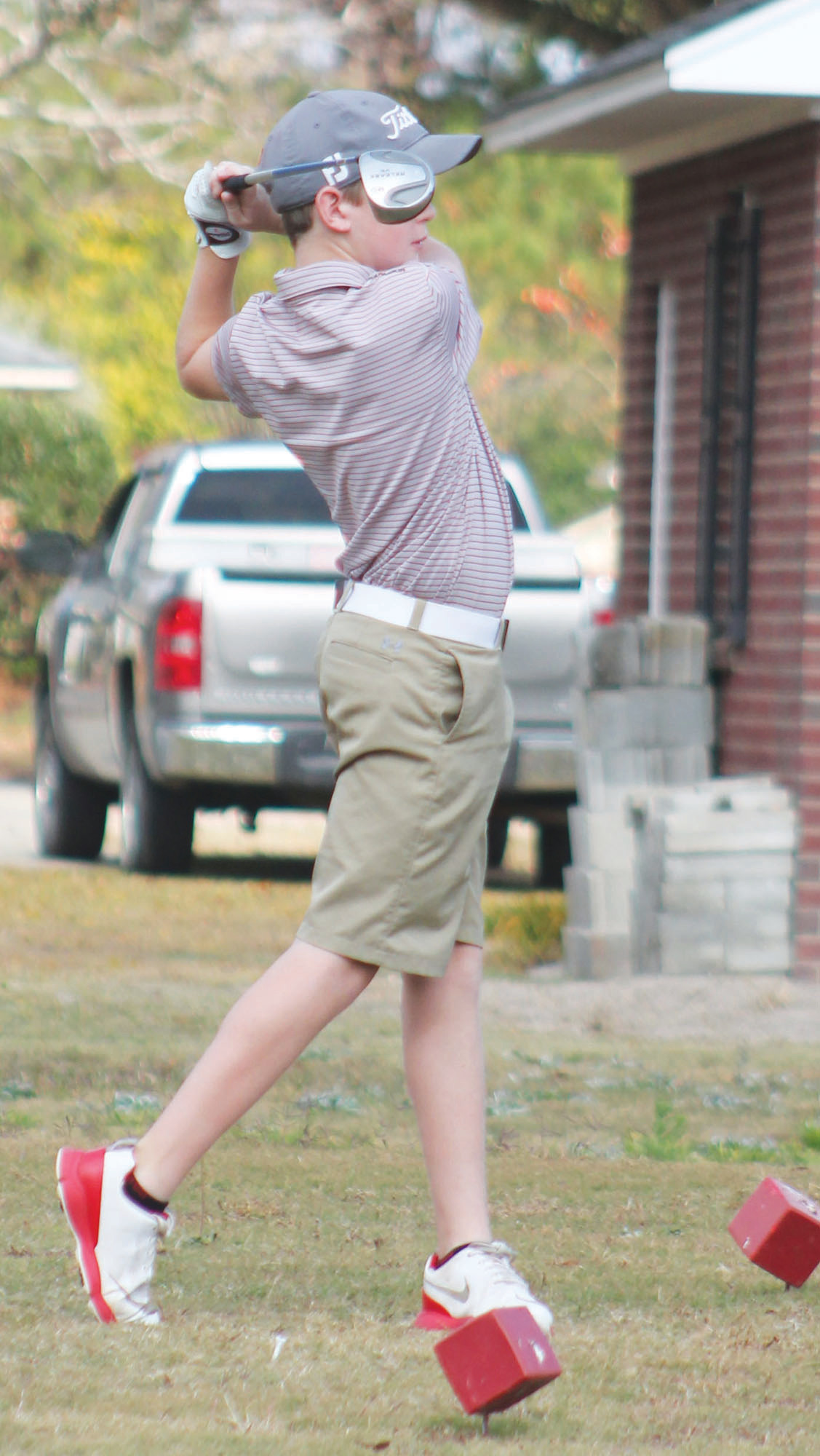 Harper Epperson, a student in the county's Youth Golf Program, participates in the 2016 Clarendon County Youth Golf Program Tournament fundraiser.