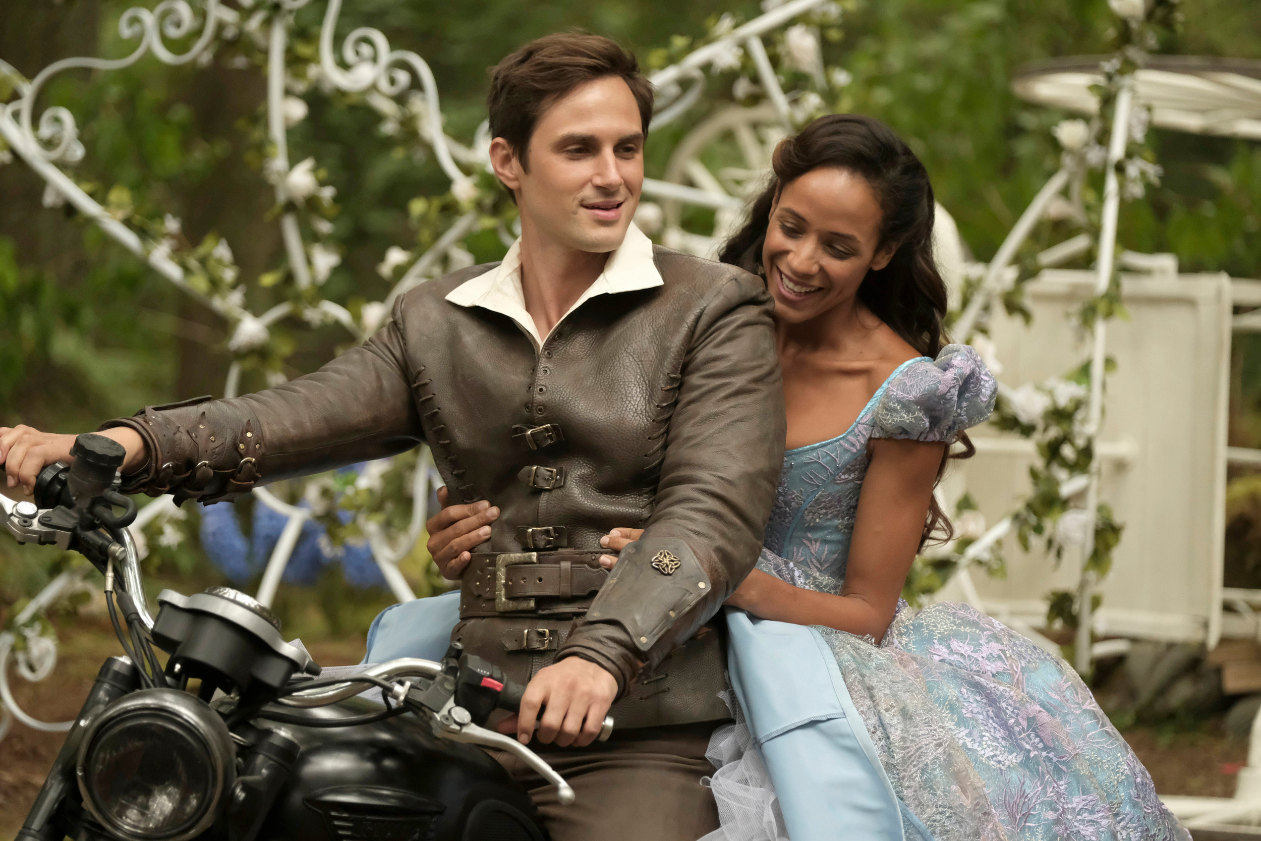 "Andrew J. West, left, stars as adult Henry Mills and Dania Ramirez as Cinderella as ""Once Upon a Time"" returns for its seventh season at 8 p.m. today on ABC."