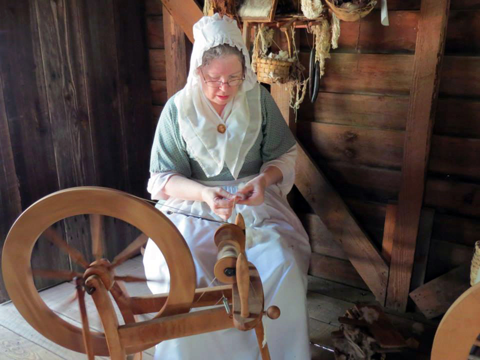 Mel Welch will be on hand in the loom house in Sumter County Museum's Carolina Backcountry on Saturday. She will demonstrate spinning and weaving for visitors to the museum's harvest celebration. Admission is free to the 10 a.m. to 4 p.m. harvest celebration.