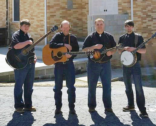 High Ridge Bluegrass band features Roy Reaves, second from left, on guitar. Reaves and the band are sponsoring the sixth barbecue fundraiser in order to raise money to help offset the cost of treatment for 3-year-old Rosie Lyn McLeod, who has a serious health condition.