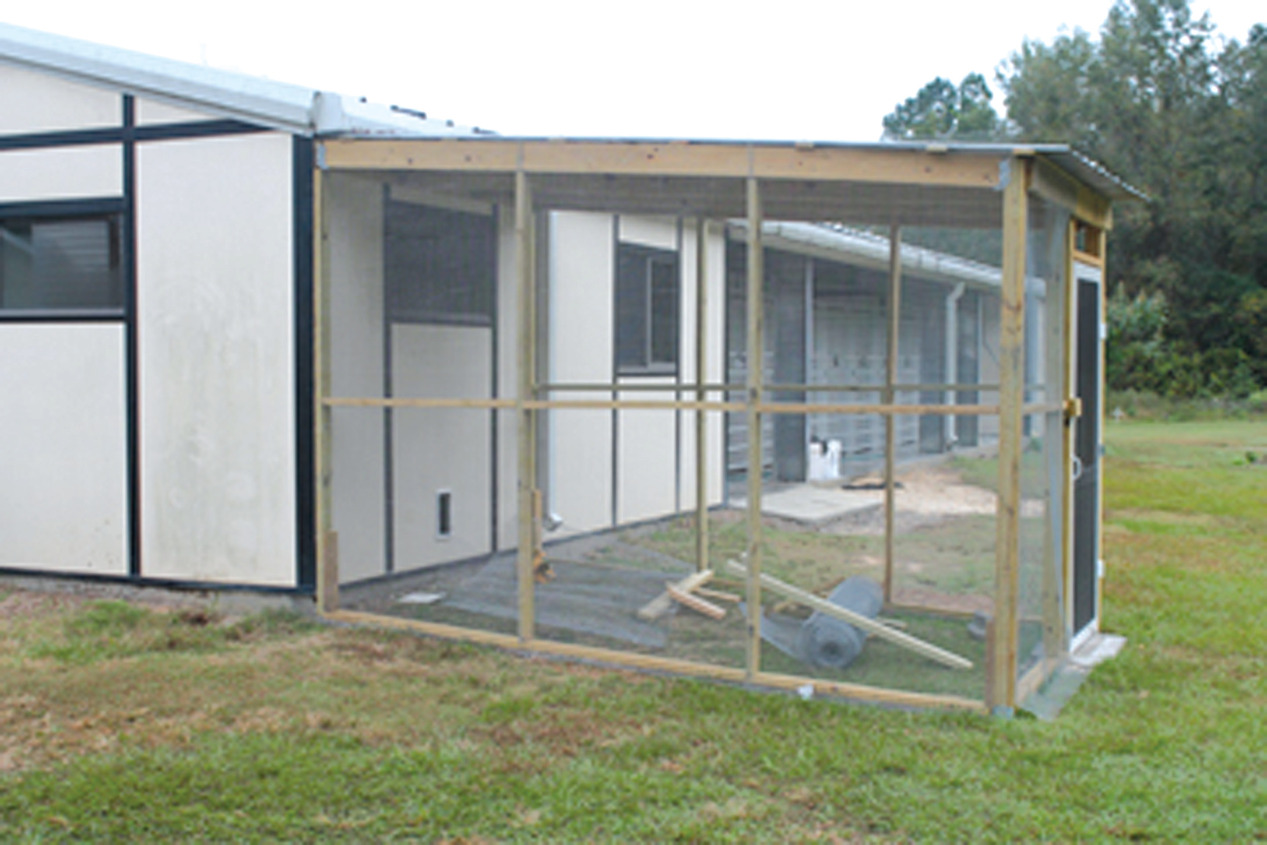 Cats at A Second Chance Animal Shelter will be calling a new building on the grounds home in the very near future.  The building built by volunteers features a screened-in area where the cats can enjoy some time outdoors.