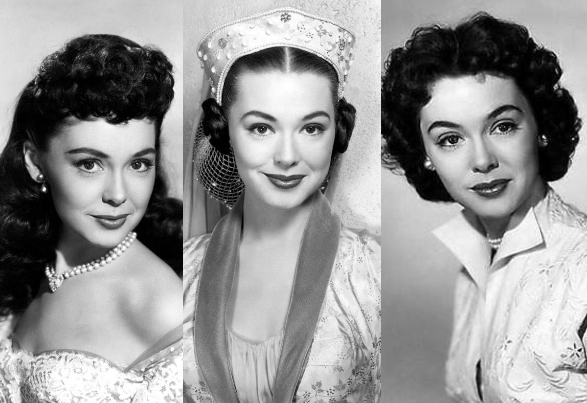 "Barbara Rush is seen in three of her movie roles. From left, the films are ""Captain Lightfoot,"" ""The Black Shield of Falworth"" and ""It Came from Outer Space,"" all Universal Pictures."