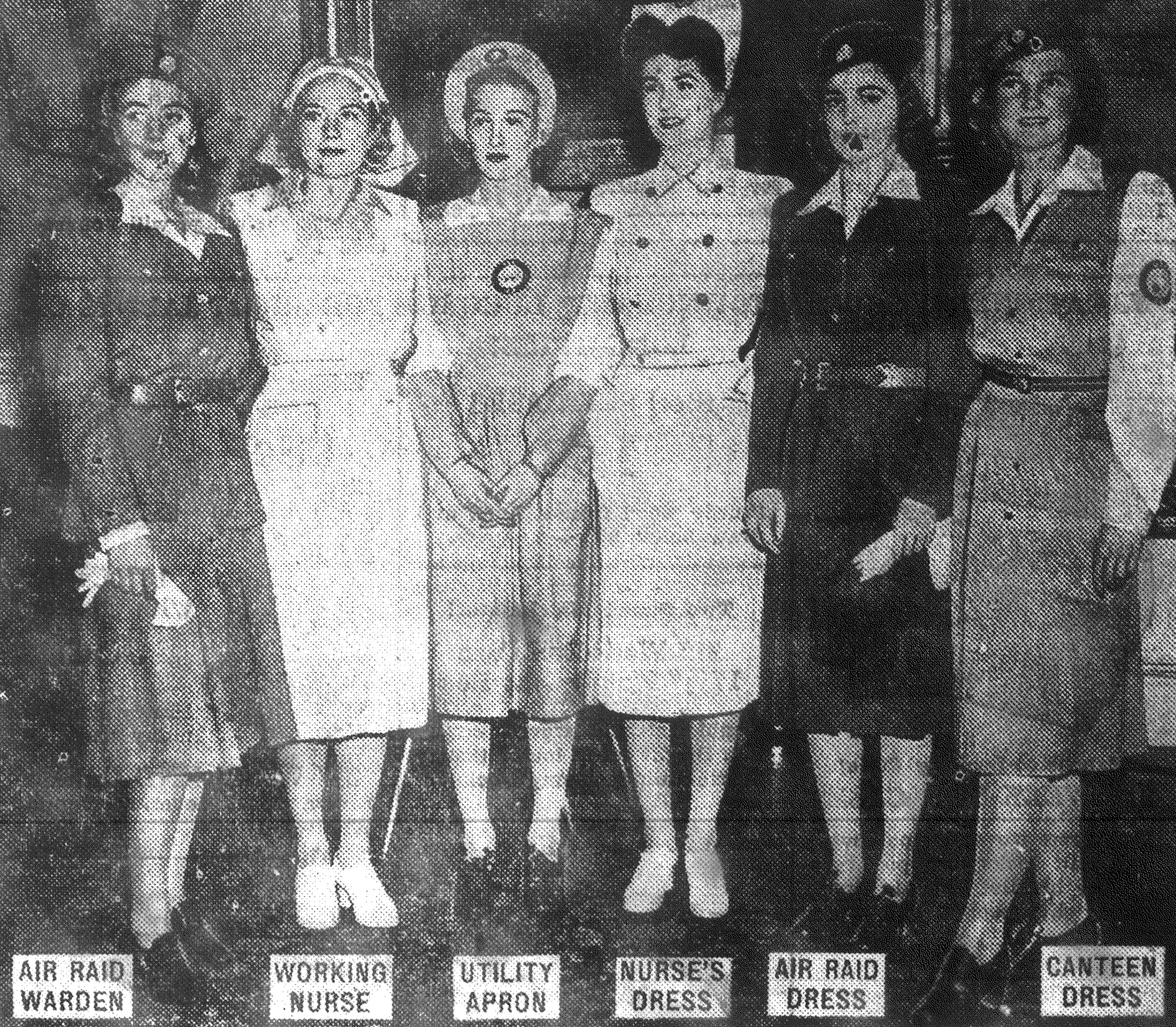 These uniforms for women doing war work had the official approval of Civilian Defense Director La Guardia.