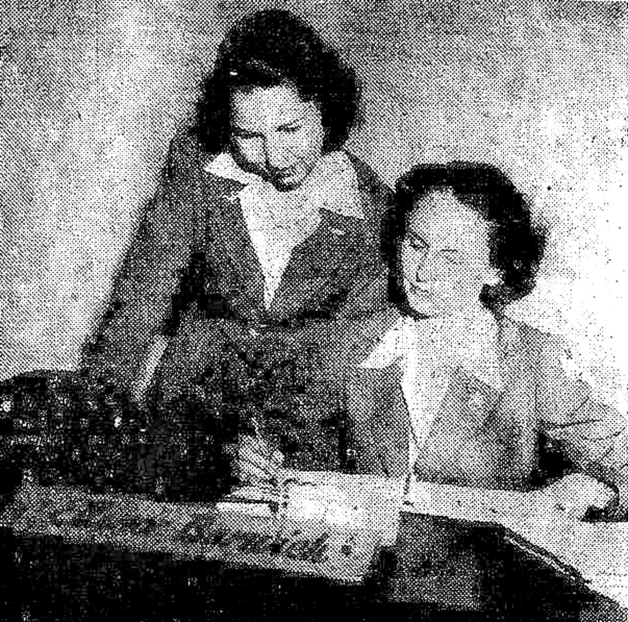 Ellinor Barwick, civilian personnel clerk, and Elizabeth Spears, special orders cler, were the first civilians employed at Shaw Field.