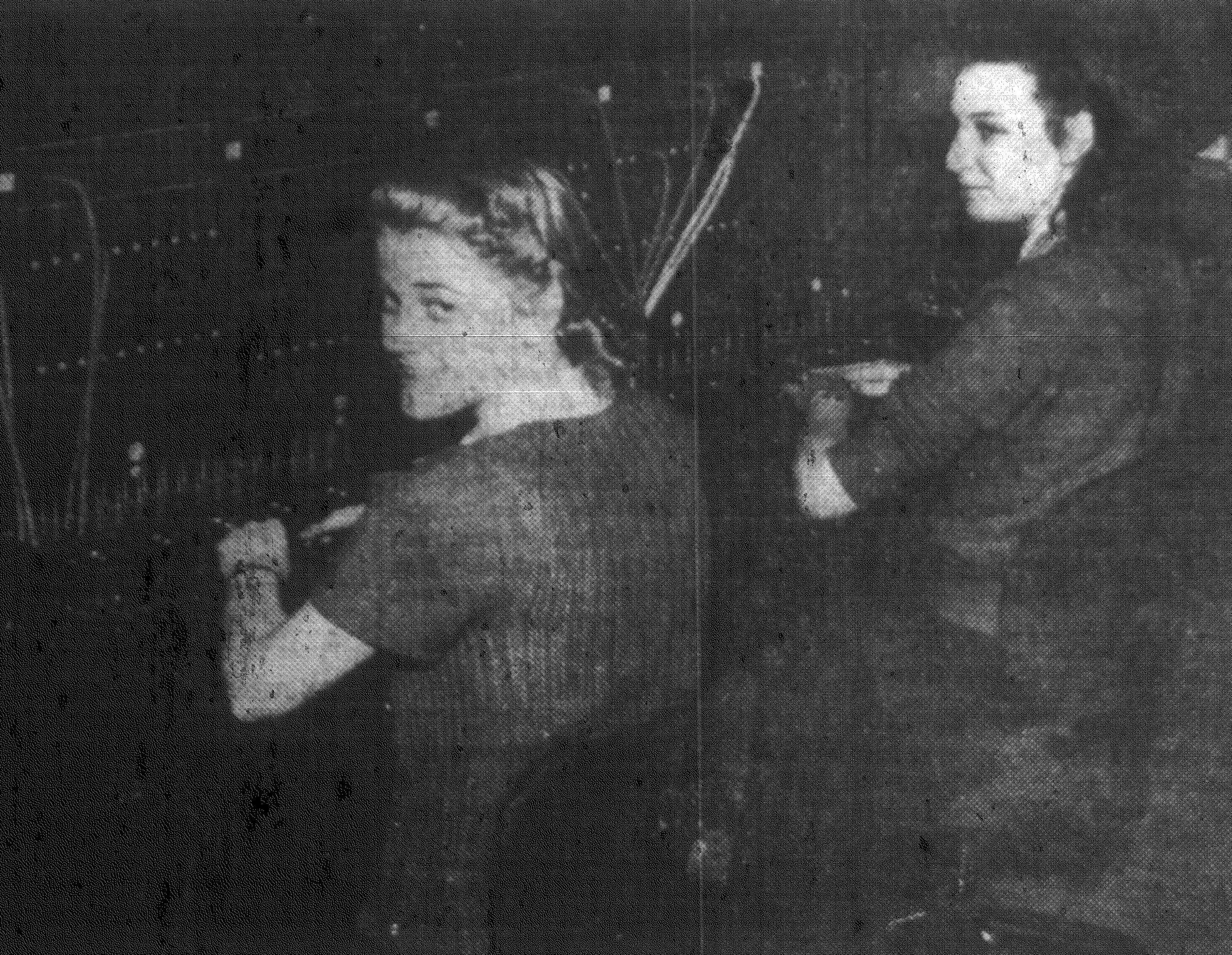 Telephone operators at Shaw Field Mary Clark, left, and Lucile Smith are seen in 1942.