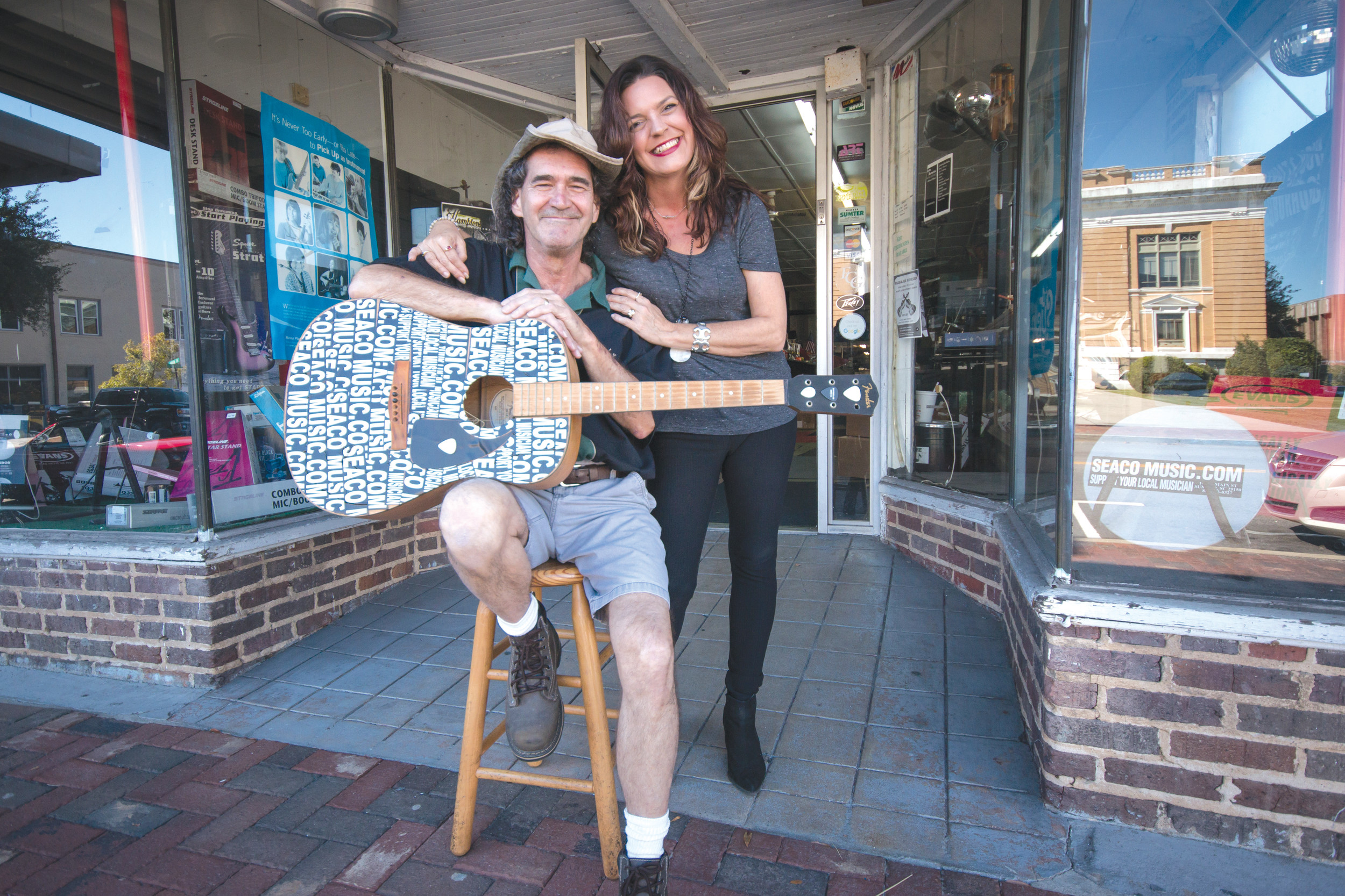 Brooks and Shannan Wilkinson are seen outside SEACO on Main Street. Downtown Sumter will no longer have one of its icons located across from the Sumter County Courthouse on Main Street. On Oct. 31, Brooks Wilkinson will lock the doors on the iconic Main Street music shop for the last time. As the music begins again, this time across town, the 70-year-old Sumter business will have a grand reopening mid-November in its new location on Bultman Drive.