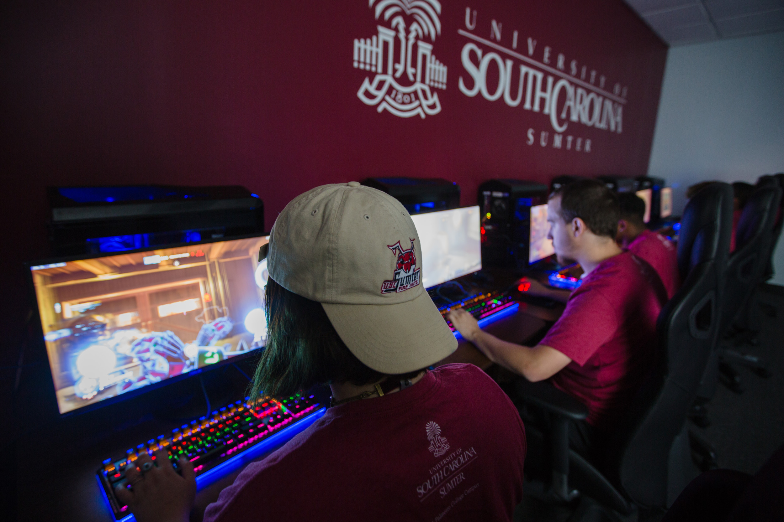 University of South Carolina Sumter students and eSports varsity team gamers participate in a practice session in the school's eSports arena on Thursday. USC Sumter started the varsity program in 2015.