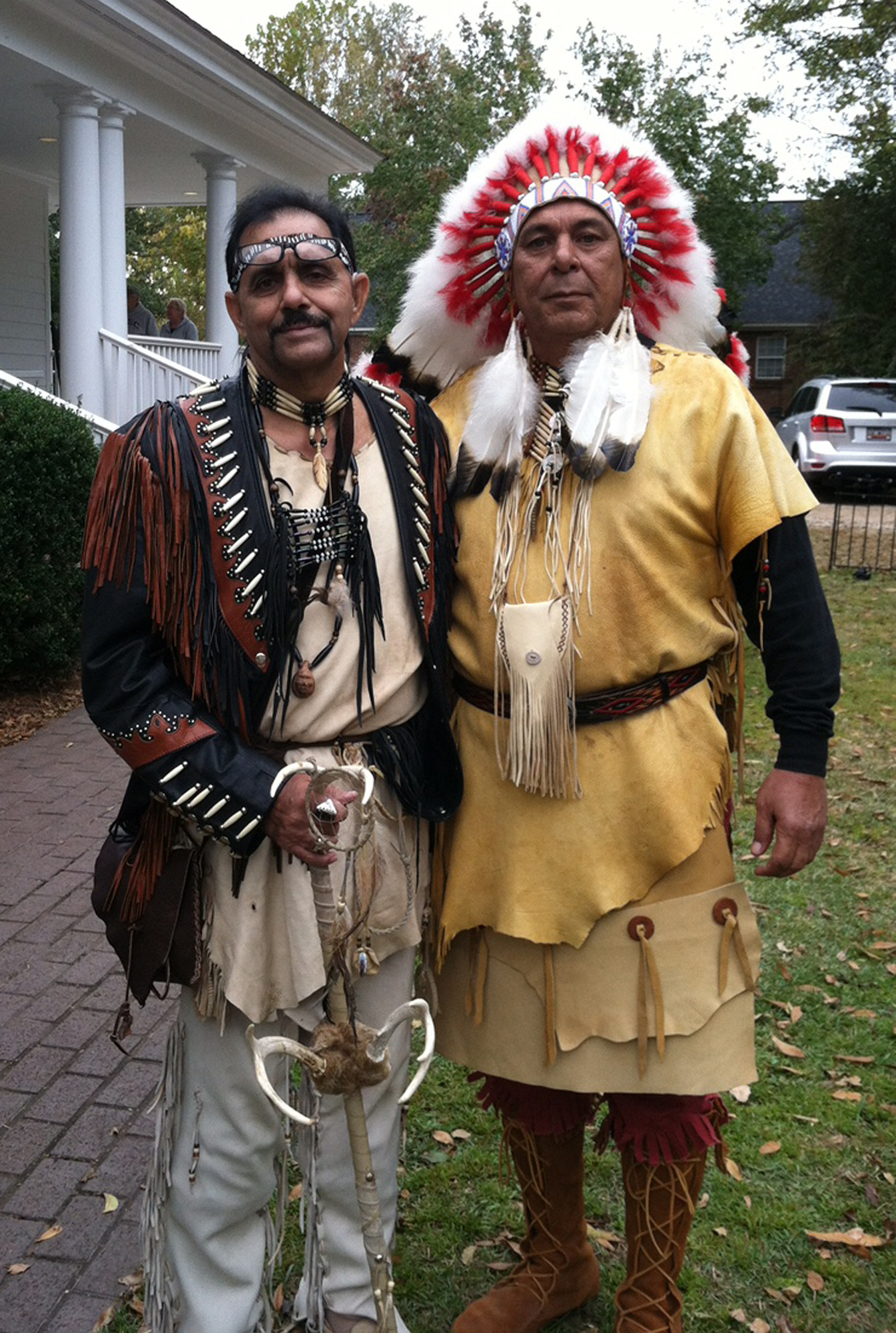 Chief Ralph Oxendine and Vice Chief George Truesdale are part of the Sumter Tribe of Cheraw Indians.