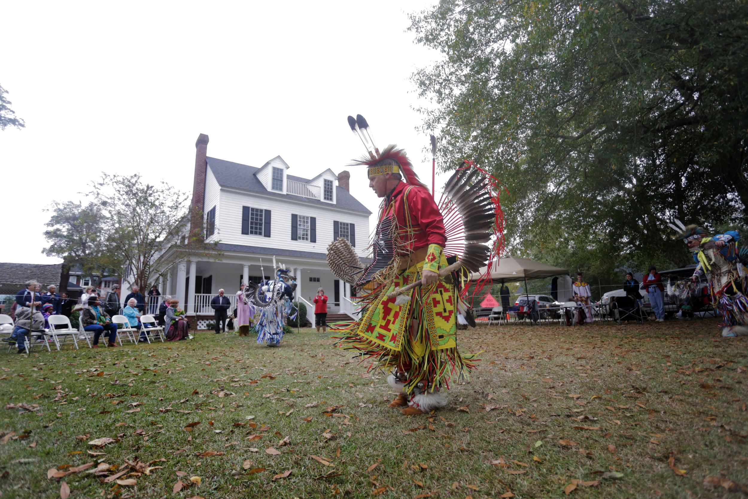 Native Americans dance during a Sumter Tribe of Cheraw Indians event in 2014 at the Sumter County Museum.