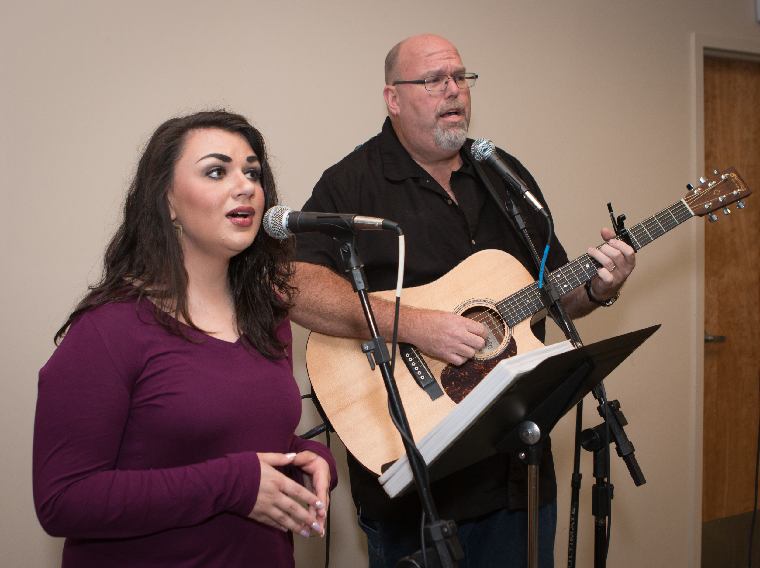 AshLee Holloman and Kevin Jarvis perform during the event.