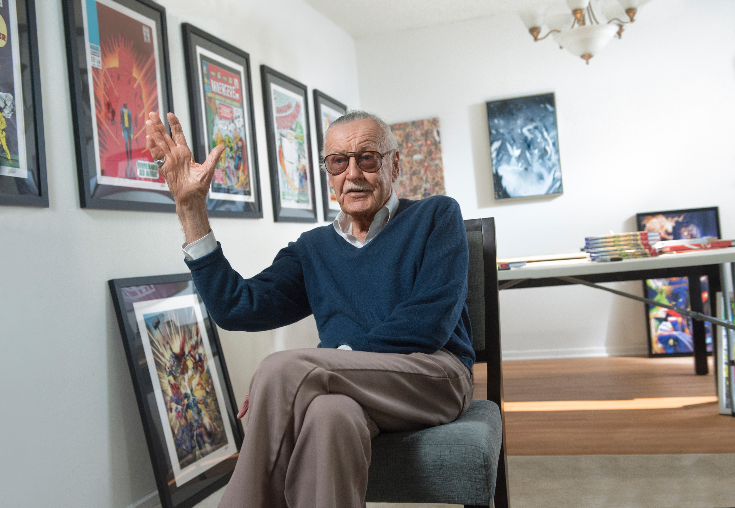 "Stan Lee is interviewed on ""The Mighty Misfits Who Made Marvel"" debut episode of ""Robert Kirkman's Secret History of Comics,"" airing at 11 p.m. Sunday on AMC."