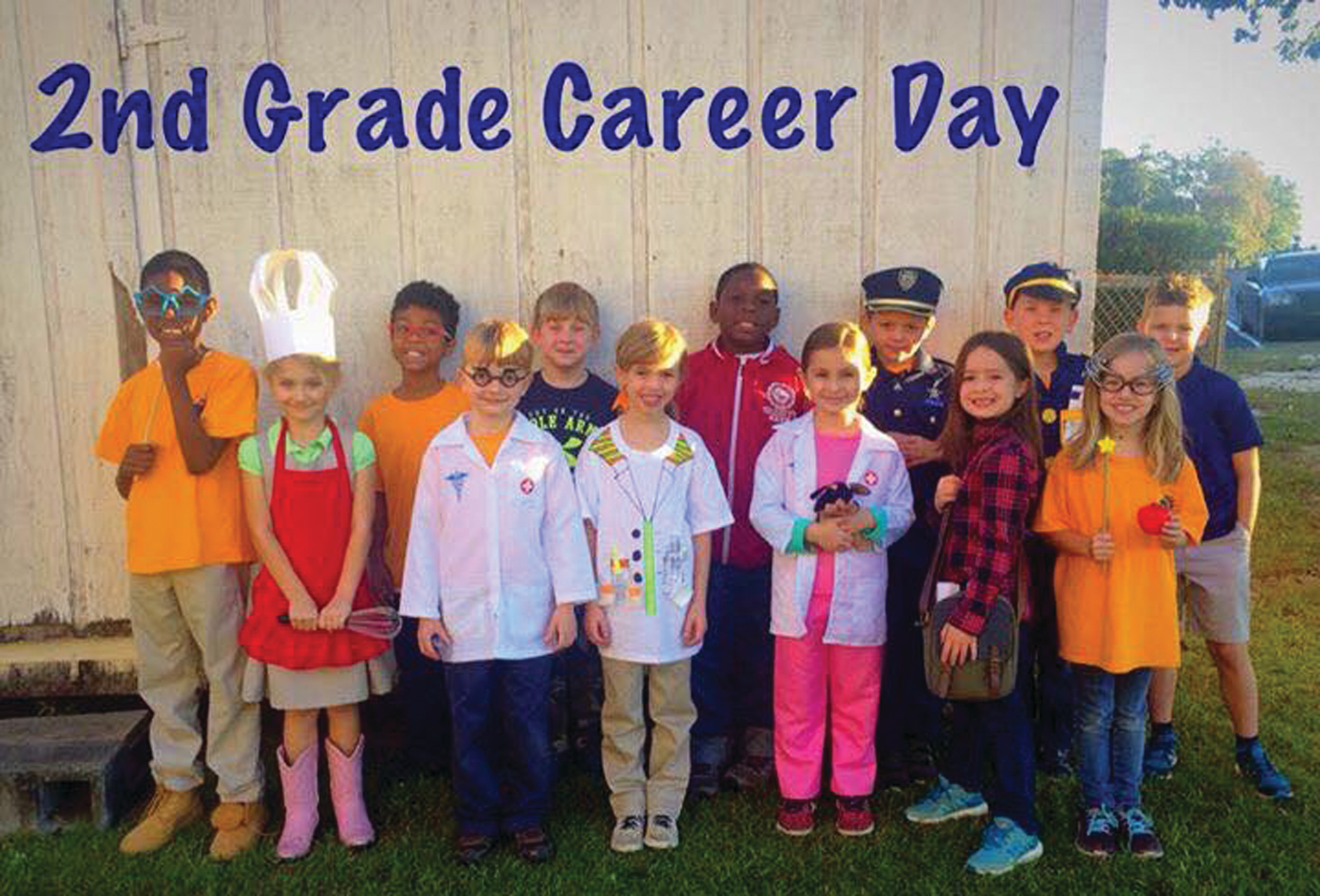 Amanda Kish's second-grade class at Sumter Christian School celebrated career day recently.