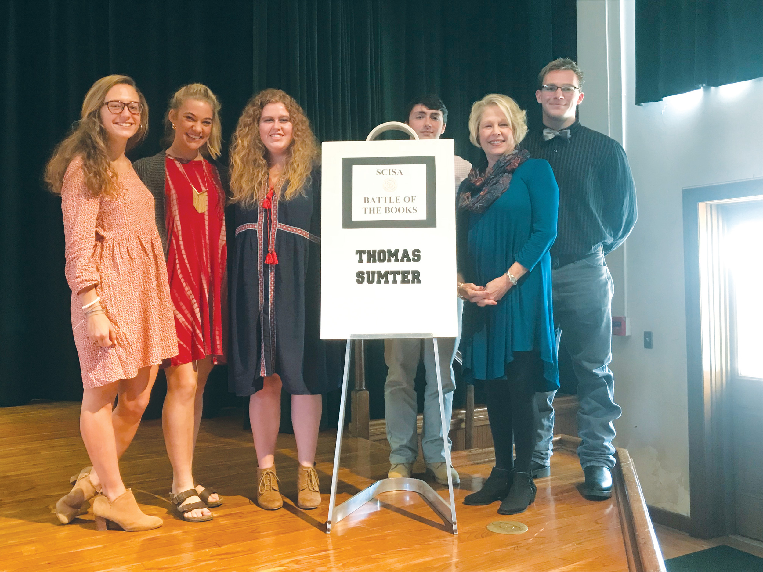 Thomas Sumter Academy hosted and participated in the first SCISA-sponsored Battle of the Books for High School students.