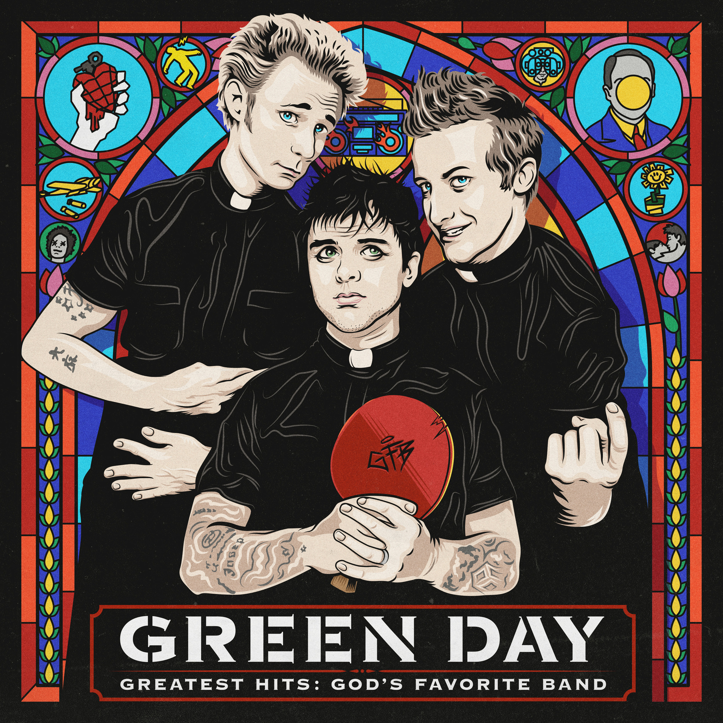 "This cover image released by Reprise Records shows ""Greatest Hits: God's Favorite Band,"" by Green Day."