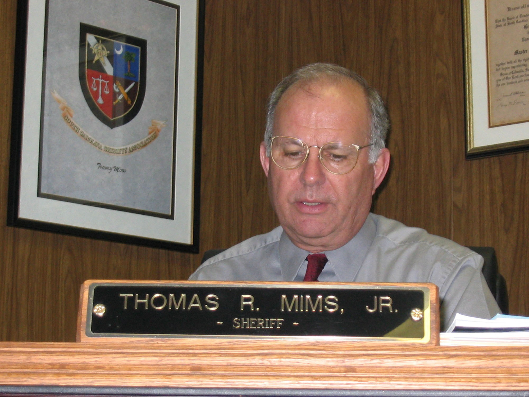 Thomas R. Mims Jr. was elected sheriff in 1988 and was with Sumter County Sheriff's Office for 40 years.