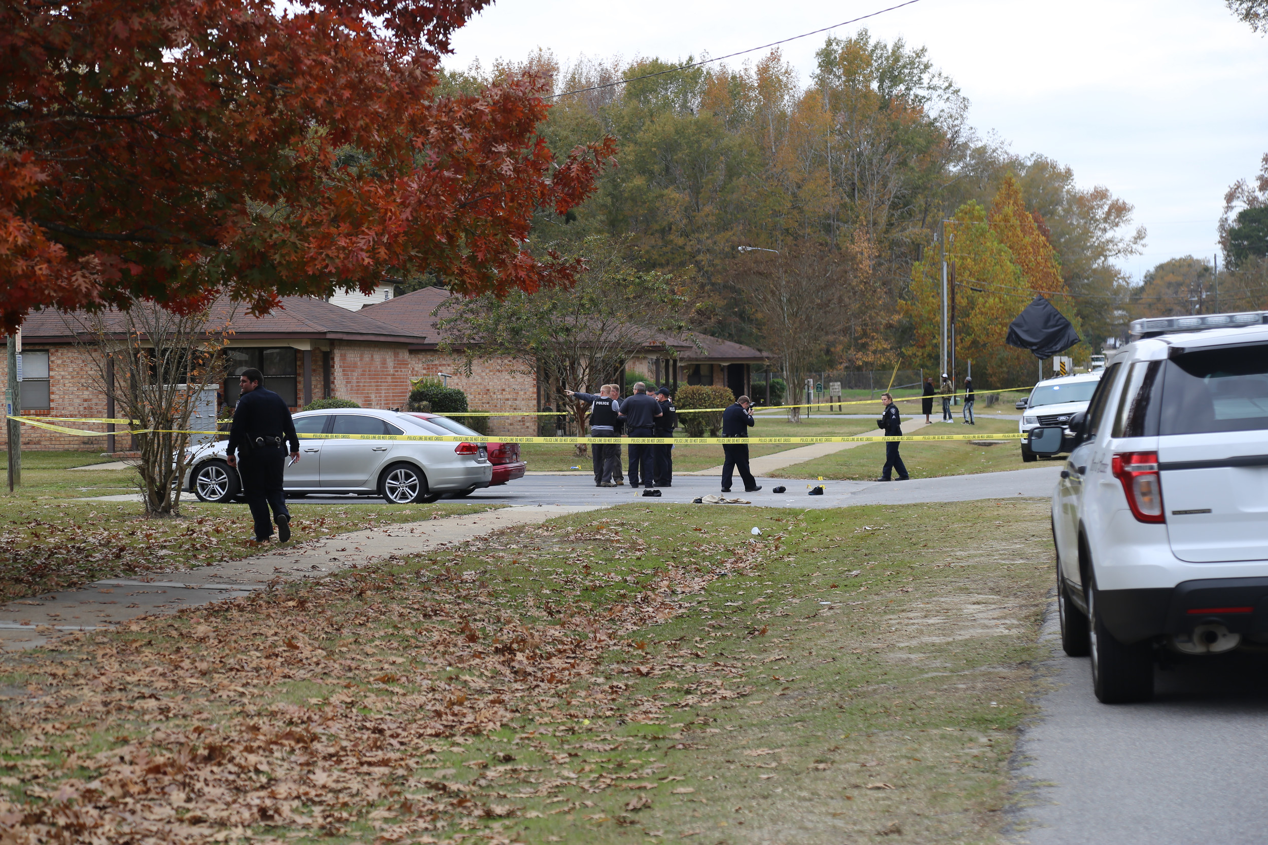 This was the scene of a shooting Tuesday afternoon that involved a male teen being airlifted to a hospital.