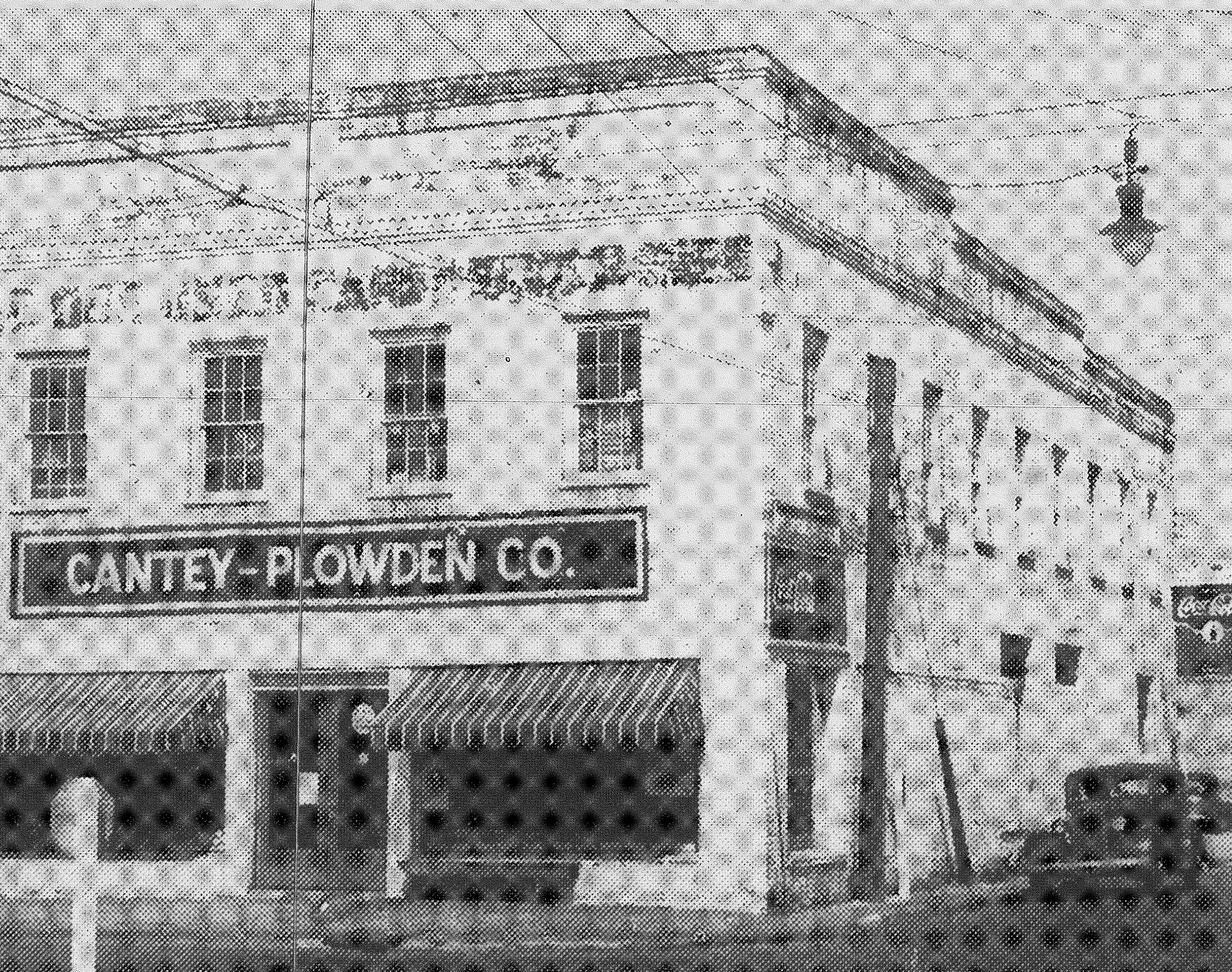 The Cantey-Plowden Co. building is seen at the corner of Hampton and Sumter streets in 1943.