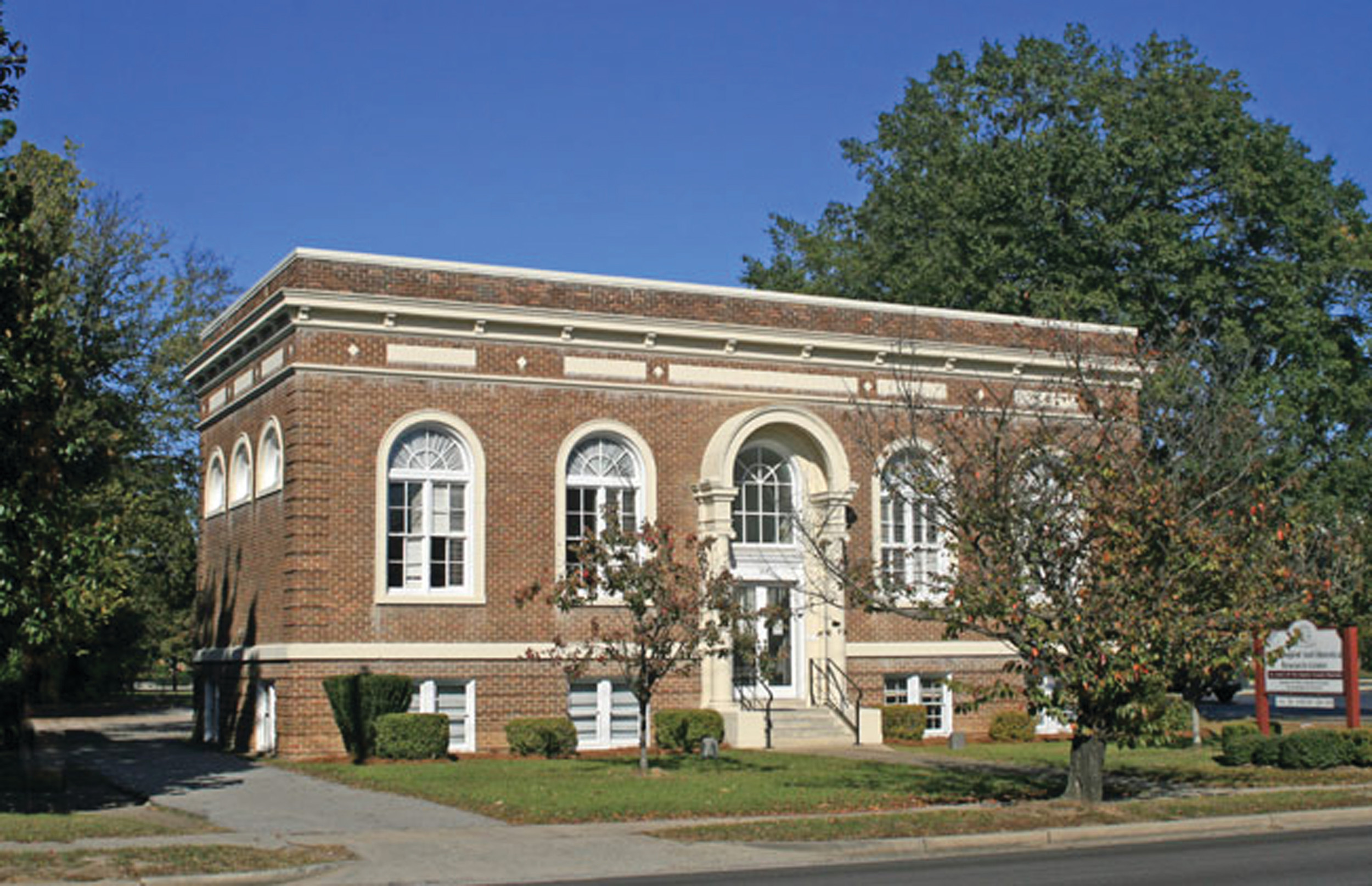 The original Sumter County public library opened Dec. 4, 1917, as the Carnegie Public Library, funded by steel magnate Andrew Carnegie. The building still stands at 219 W. Liberty St.
