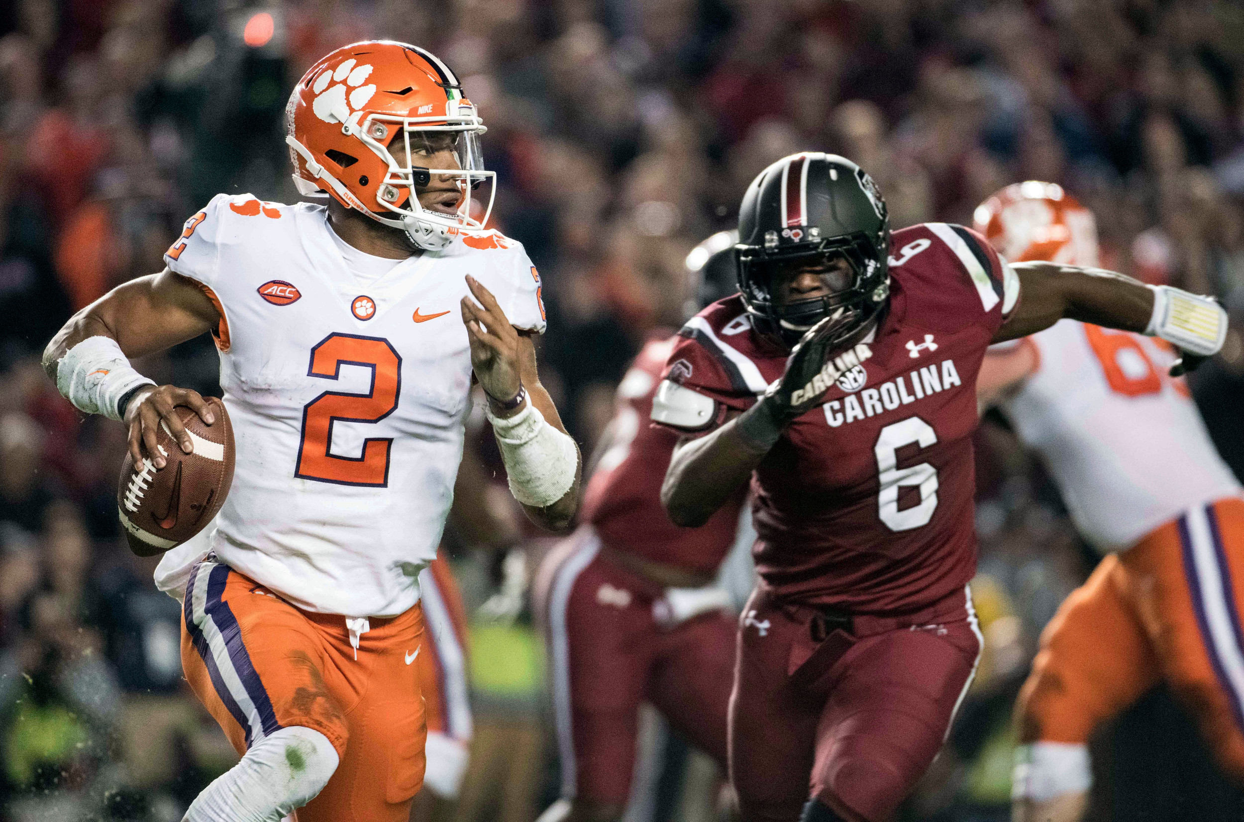 Clemson quarterback Kelly Bryant (2) took over for Deshaun Watson and has the Tigers a win away from their third straight trip to the College Football Playoff. Clemson faces Miami today in Charlotte in the Atlantic Coast Conference championship game.