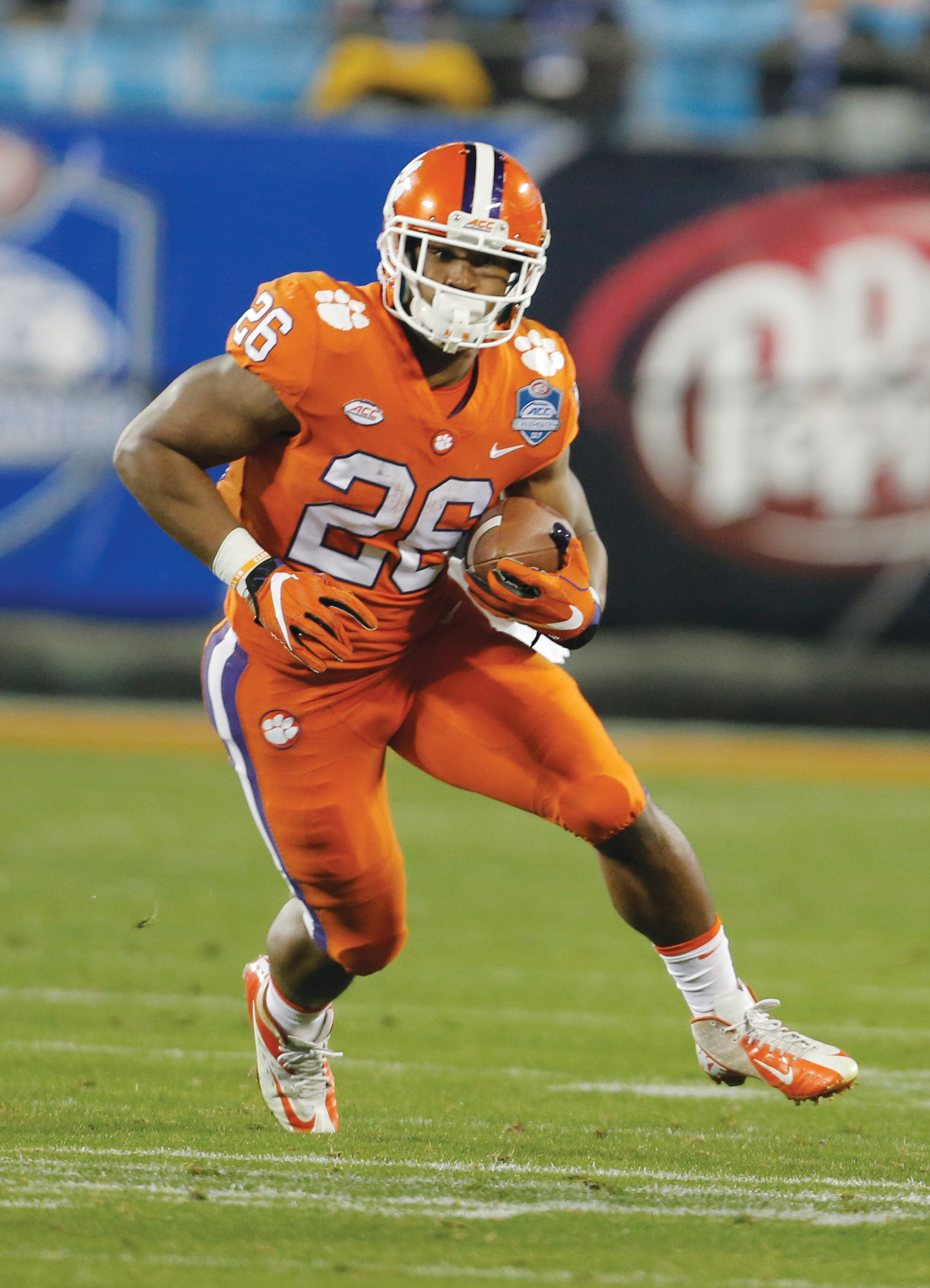 Clemson's Adam Choice (26) runs against Miami during the second half of the Atlantic Coast Conference championship NCAA college football game.