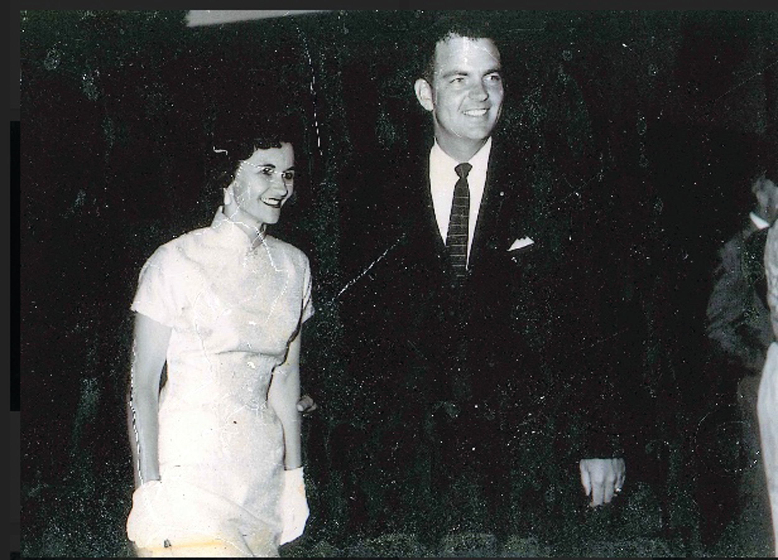 "Scott Rumph, and his wife, ""Dot,"" are shown in the earlier years of marriage."