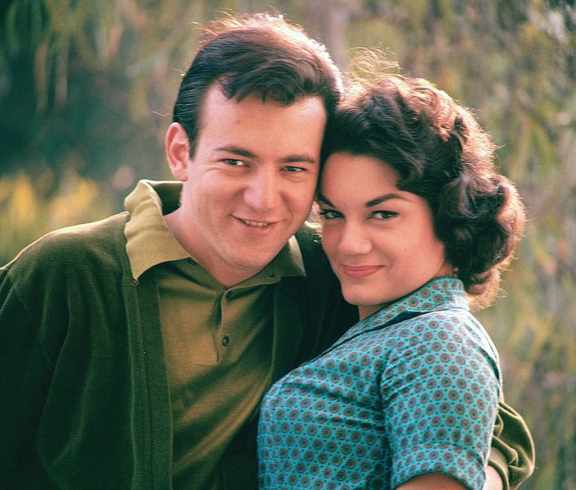 "Singer and actress Connie Francis is pictured with the late Bobby Darin, described as ""the lost love of her life."" Their romance was thwarted by her father."