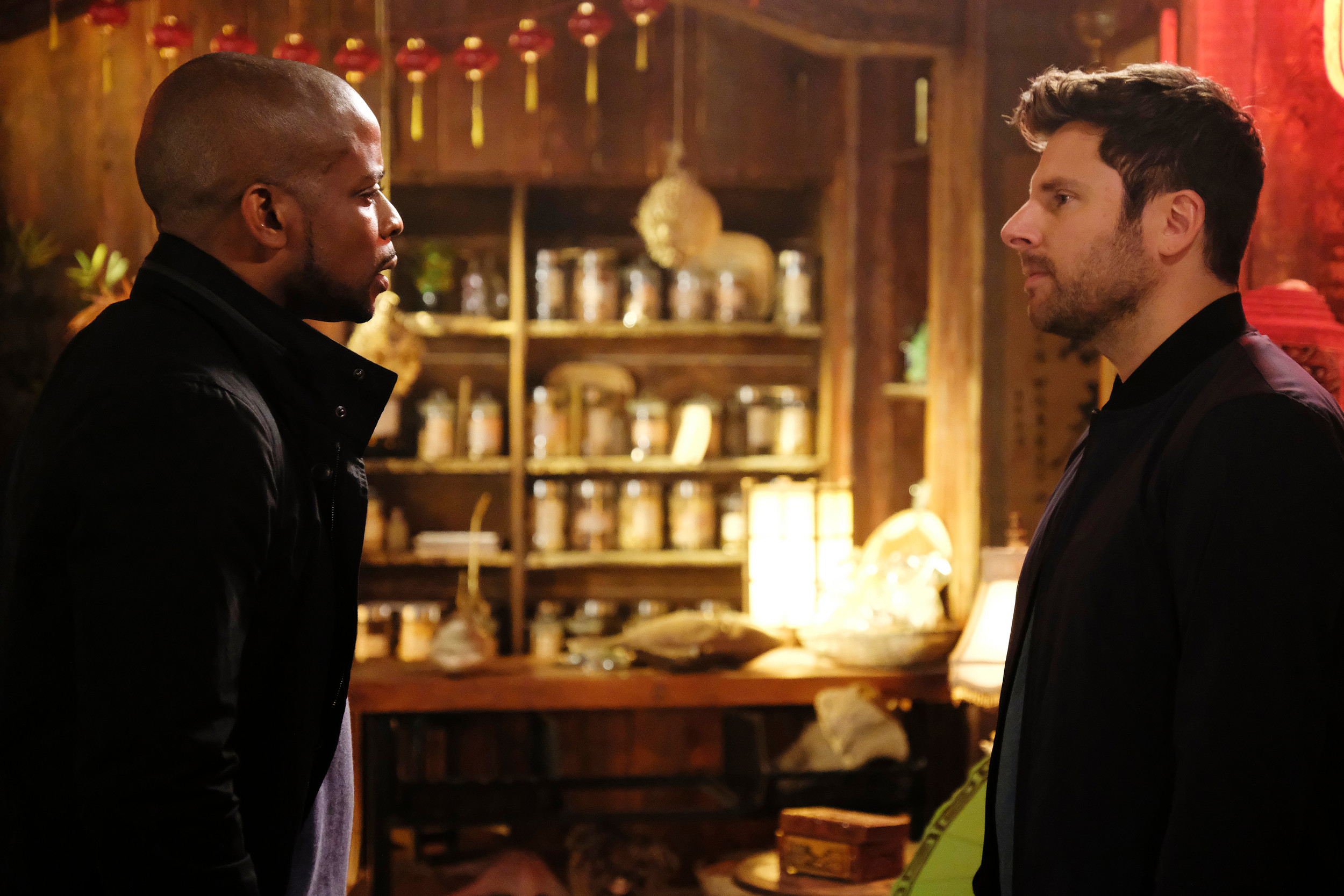 "Dule Hill, left, returns as Burton ""Gus"" Guster and James Roday as Shawn Spencer in ""Psych: The Movie,"" airing at 8 p.m. today on USA."