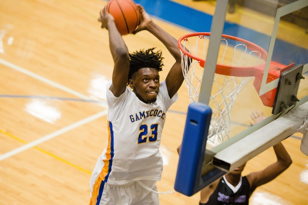 Sumter's Calvin Felder (23) gets ready to throw down a dunk in the Gamecocks' 53-40 victory over Crestwood on Saturday. The teams meet again today at The Castle before SHS travels to Ridge View High in Columbia on Saturday to take on Dorman in the Bojangles' Bash.