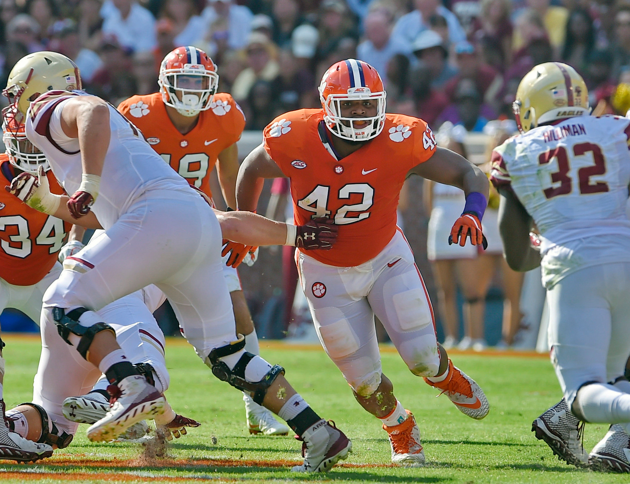 THE ASSOCIATED PRESSClemson defensive tackle Christian Wilkins (42) was selected to the second team of The Associated Press All-America football team.