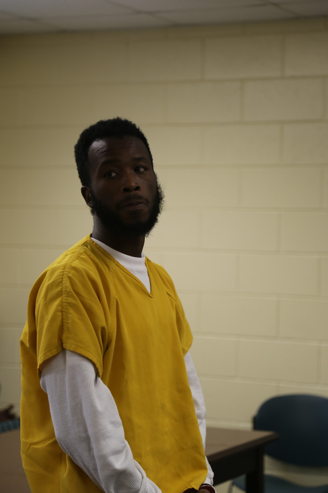 ADRIENNE SARVIS / THE SUMTER ITEMKentwon Savon Thames-Daniels stands before Magistrate Judge Larry Blanding on Tuesday.