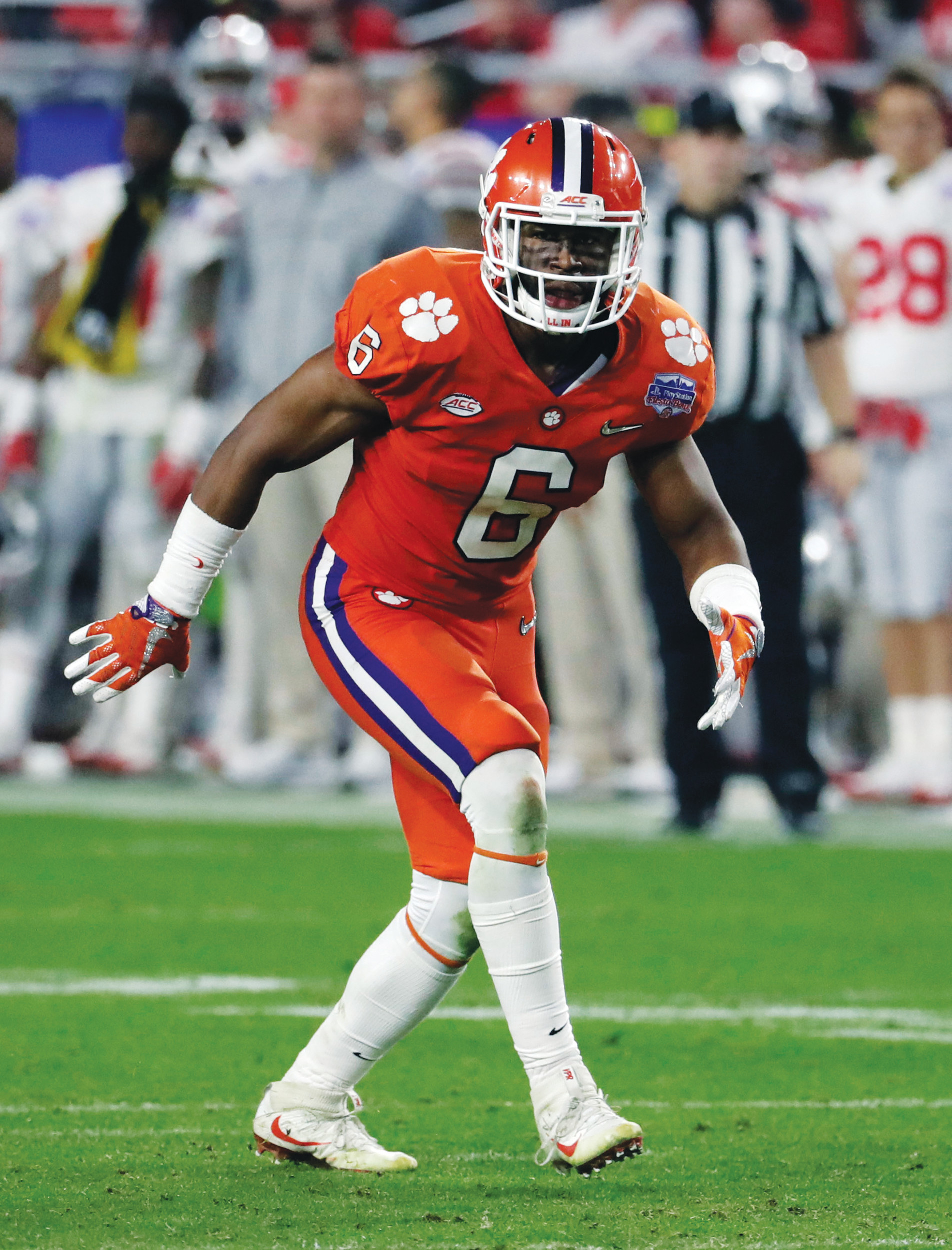 Clemson linebacker Dorian O'Daniel (6) and the rest of the Tigers began preparation on Tuesday for their national semifinal game against Alabama in the Sugar Bowl on Jan. 1.