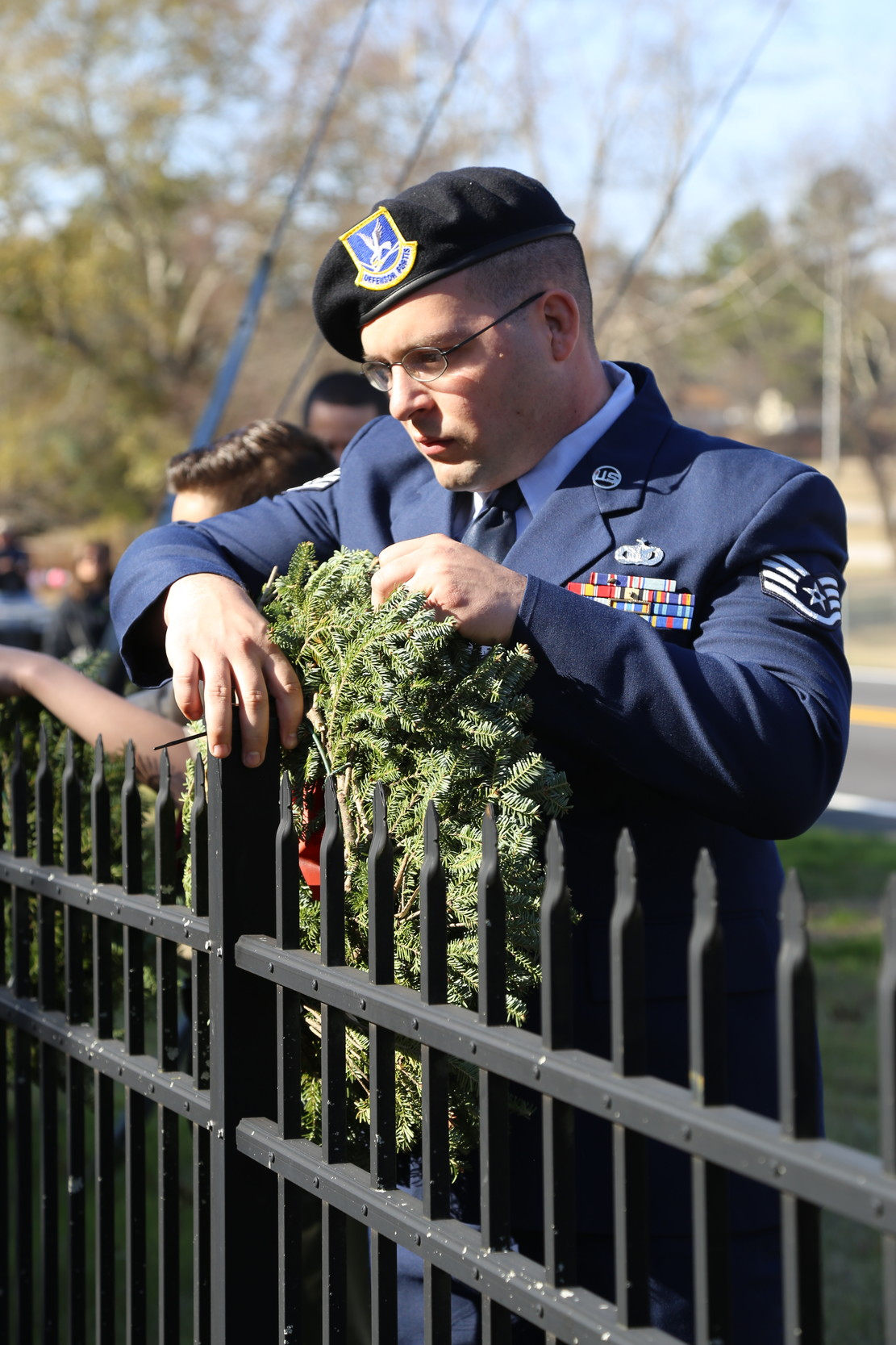 Local Civil Air Patrol cadets, Girl Scout troops, Boy Scout troops and others in the Sumter community decorated
