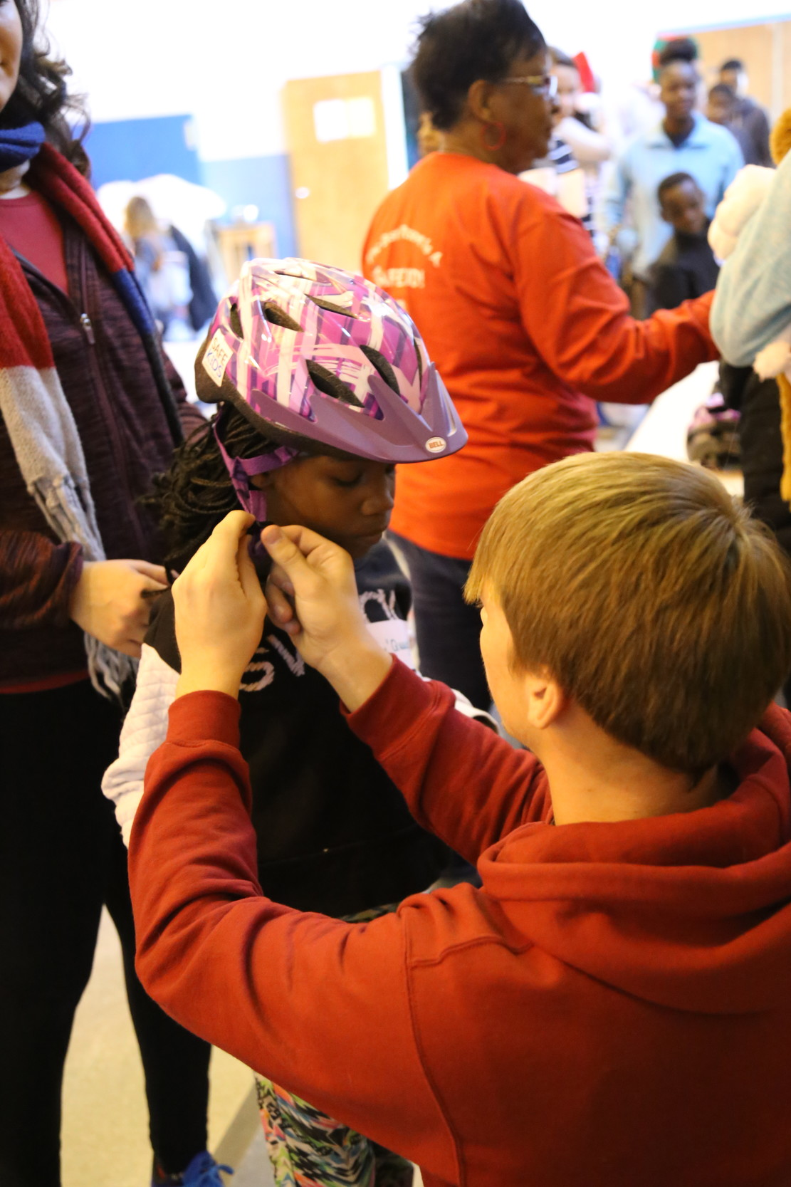 Each child receiving a bike also received a helmet from Safe Kids Sumter County, sponsored by the Tuomey Foundation.