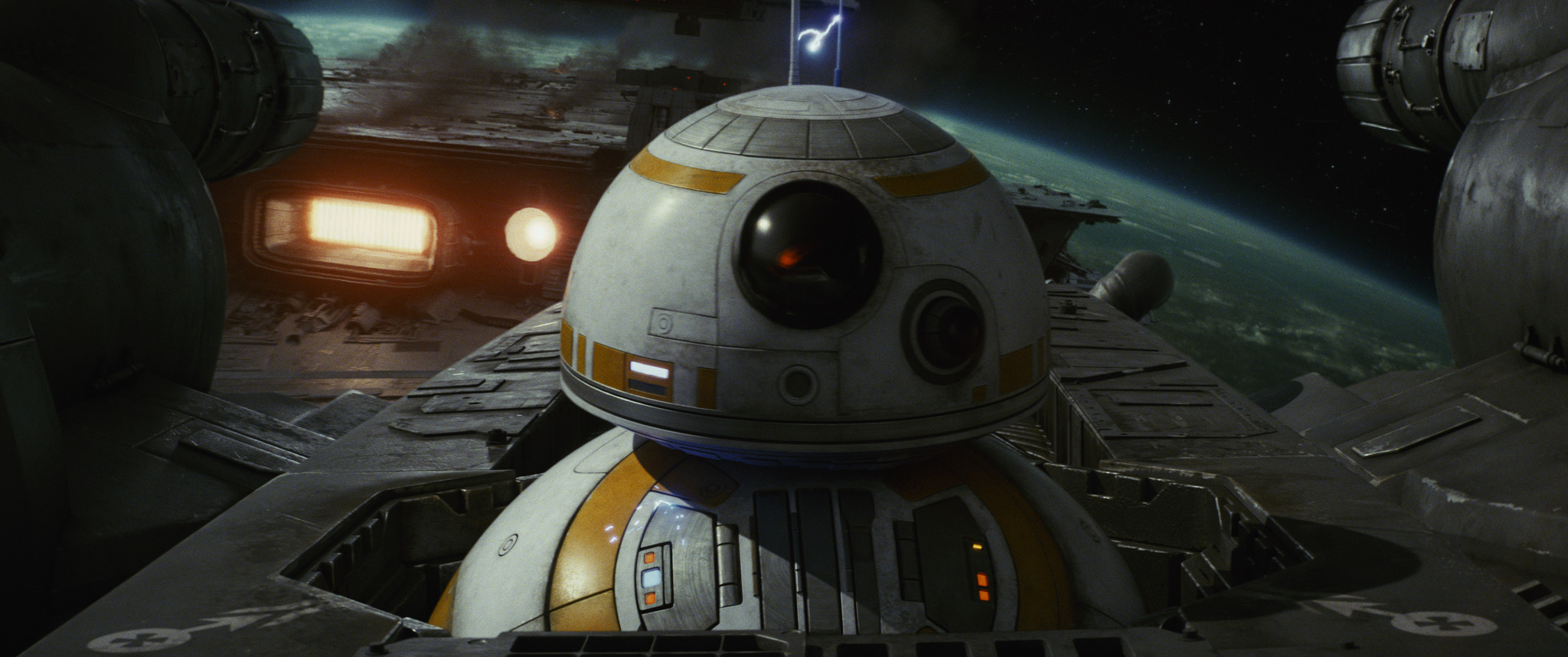 "This image released by Lucasfilm shows BB-8 in ""Star Wars: The Last Jedi."""