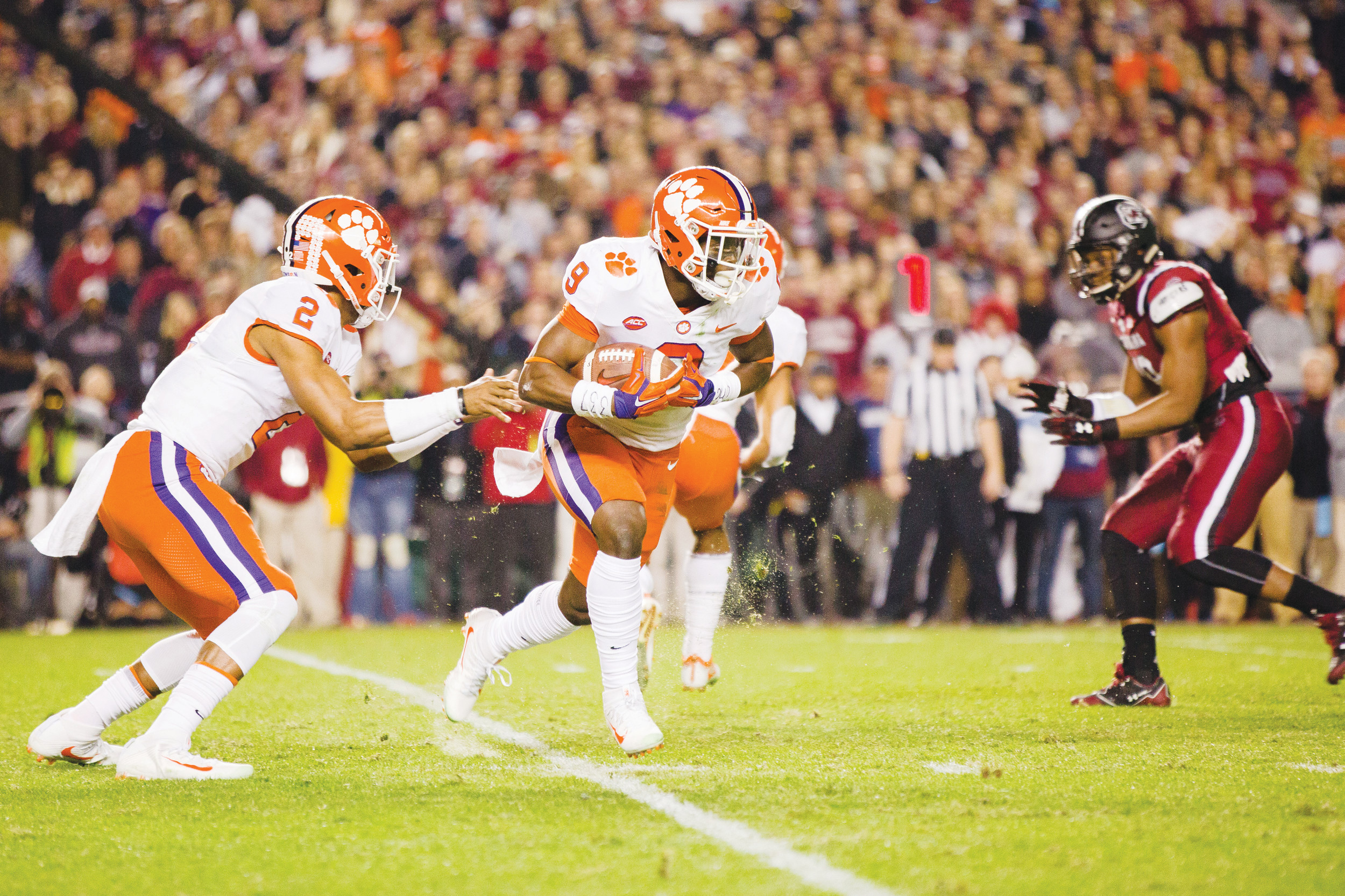 Clemson true freshman running back Travis Etienne has had a tremendous season for the Tigers after taking over for Wayne Gallman. Clemson faces Alabama in the Sugar Bowl on Monday in a College Football Playoff national semifinal game.