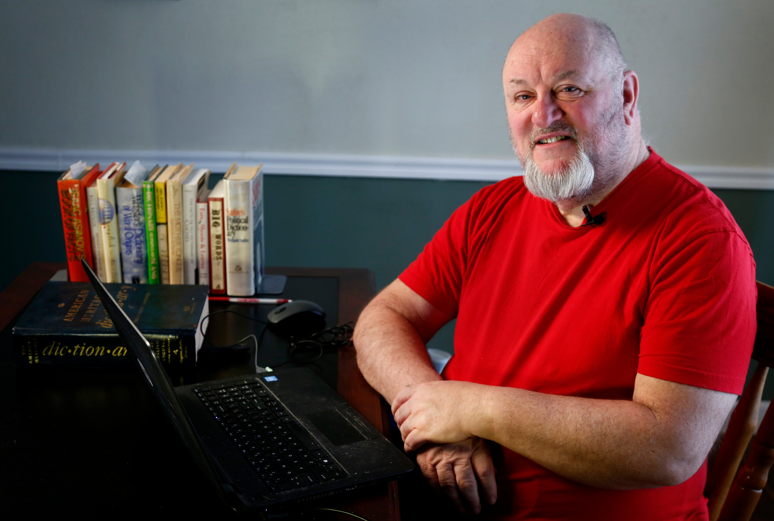 AP PHOTOChris Strolin created the online Omnificent English Dictionary in Limerick Form, or OEDILF for short, and with the help of contributors has published more than 97,000 definitions of words in limerick form since it began in 2004.