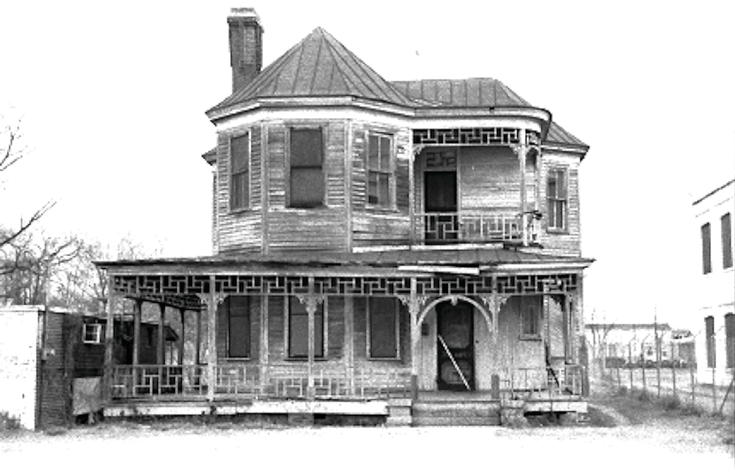 One of the early houses on Harvin Street is seen. Six generations of Bossard's family lived at 23 S. Harvin St., beginning with his granddaughter Frances Conyers Smith.