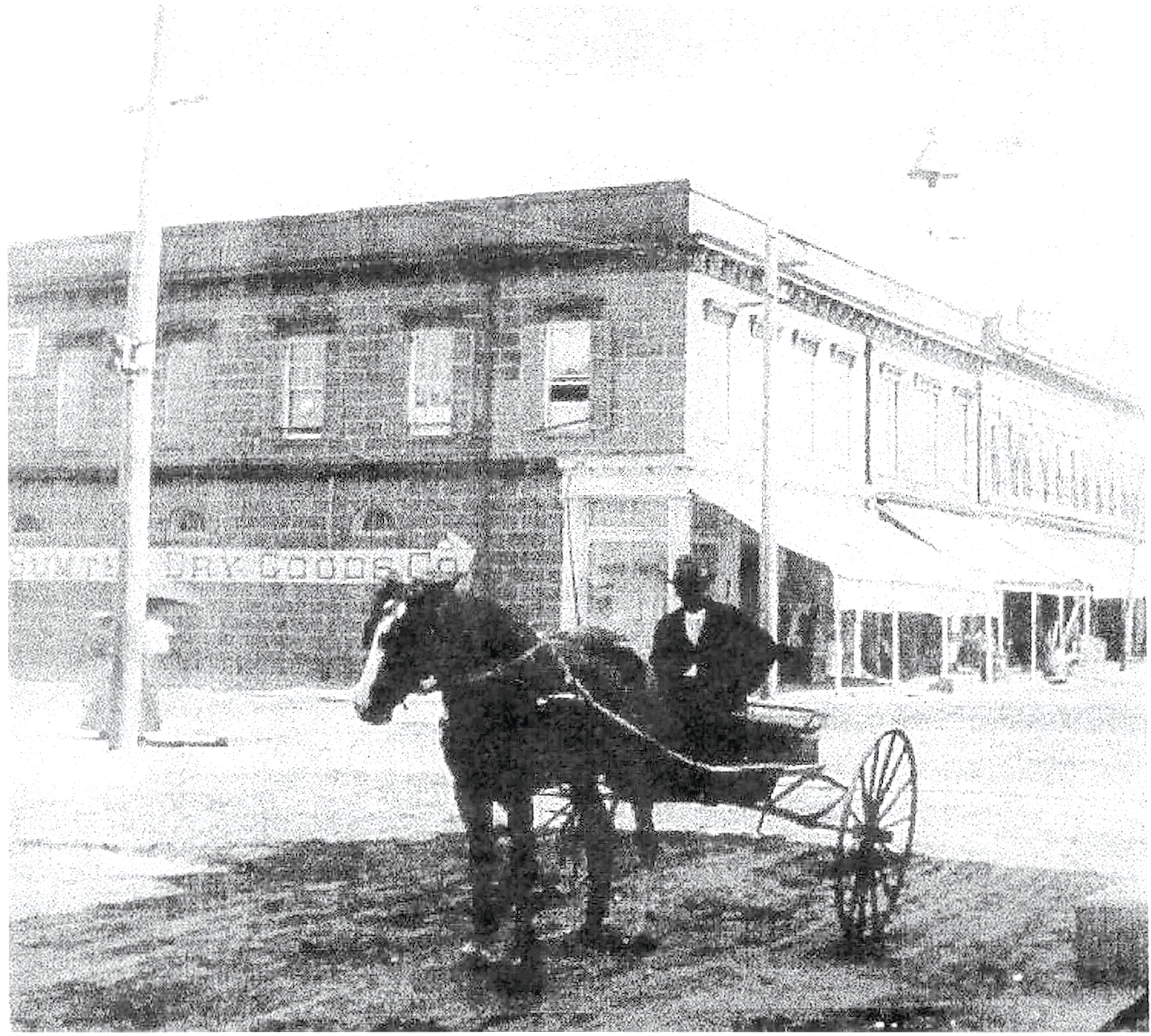 A.A. Solomons, owner of the store that later became Sumter Dry Goods, is seen outside his store. Early doctors used horses and buggies to visit patients.