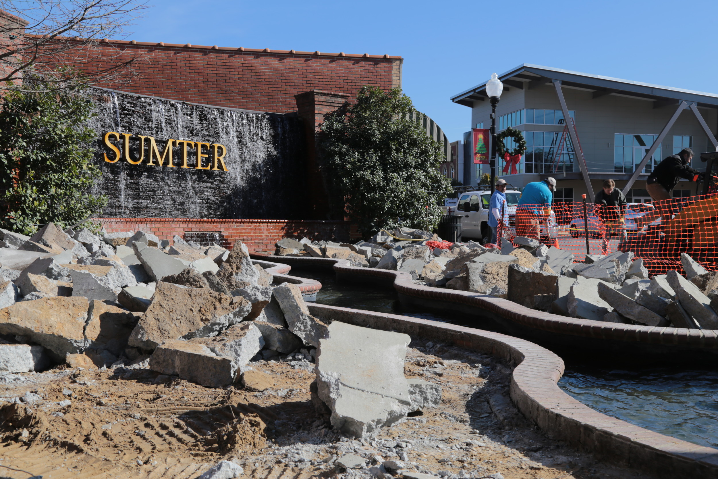 The Graham family is updating the display on the corner of North Main and East Liberty
