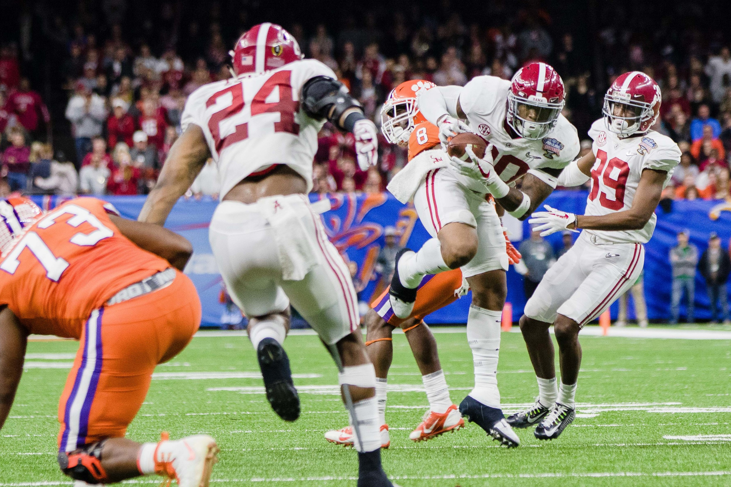 Linebacker Mack Wilson lands an interception in the second half as Clemson begins to unravel.
