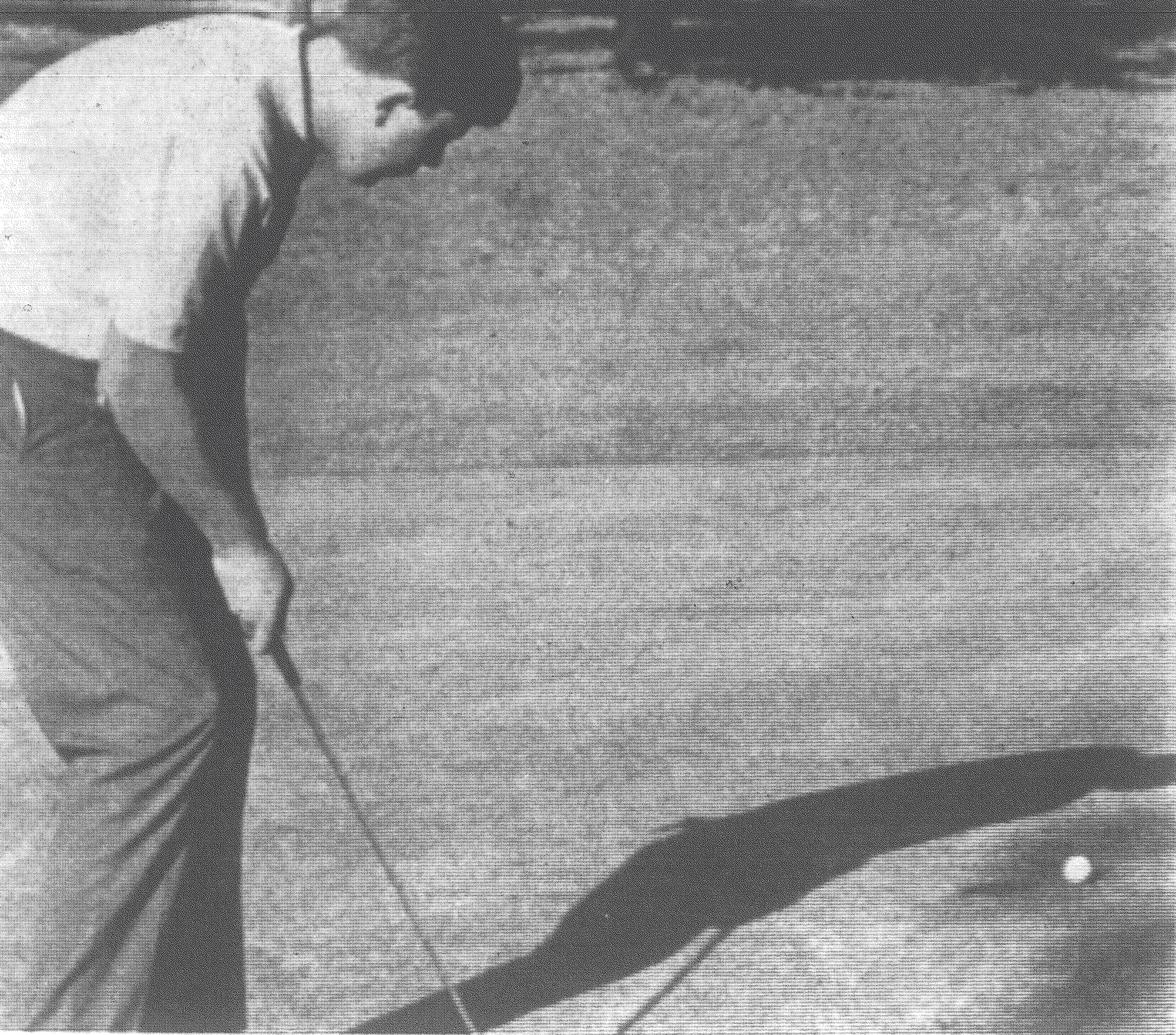 1968 - Sumter's Scotty Broome watches as his putt just misses the cup on No. 13 at Sunset Country Club during a match against Hillcrest. Broome took medalist honors for the day with a 72 as the Gamecocks edged Hillcrest 15-12.