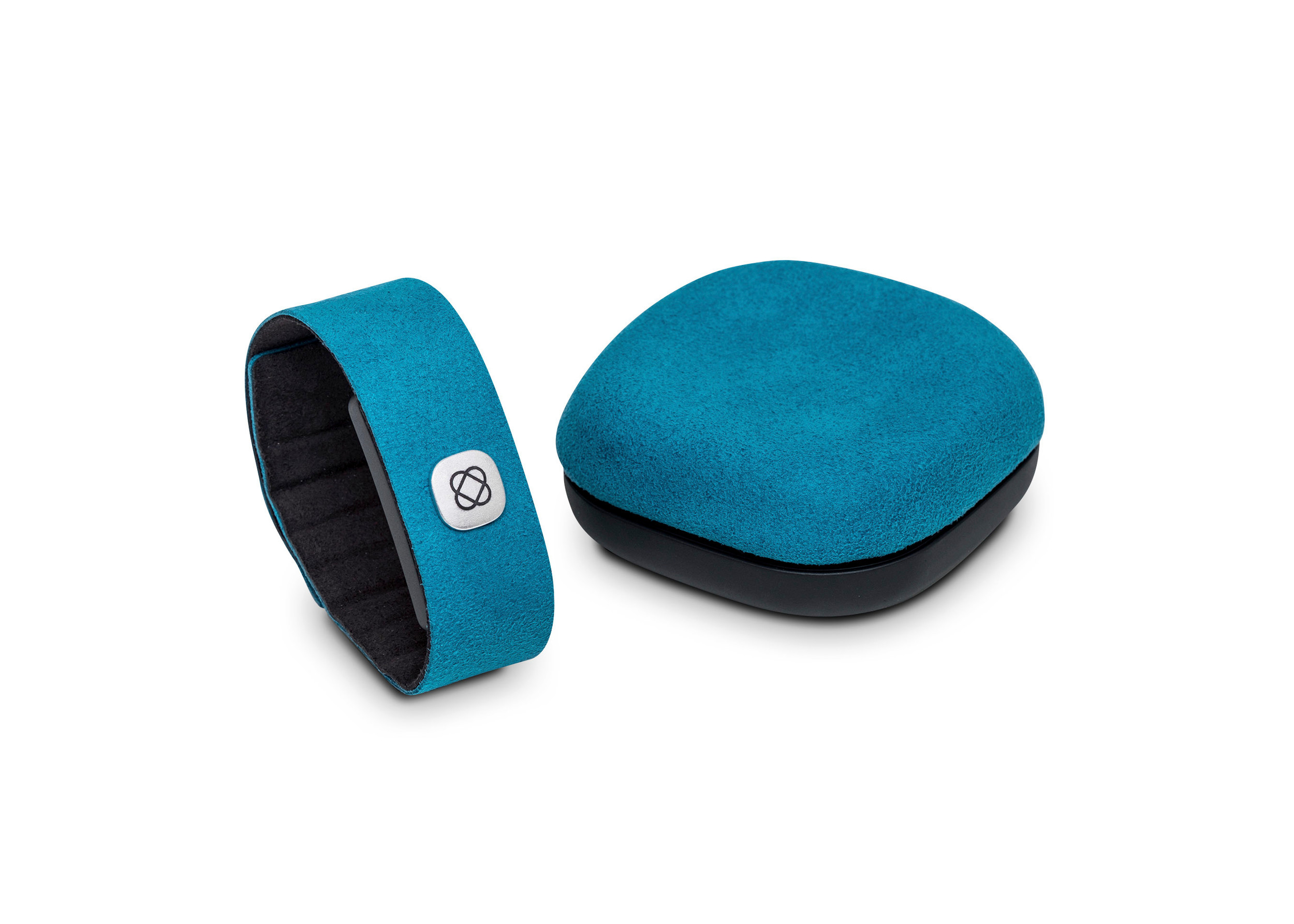 Little Riot's Pillow Talk transmits the sound of one person's heartbeat to another's pillow, using a smartphone app, two wristbands and speakers.