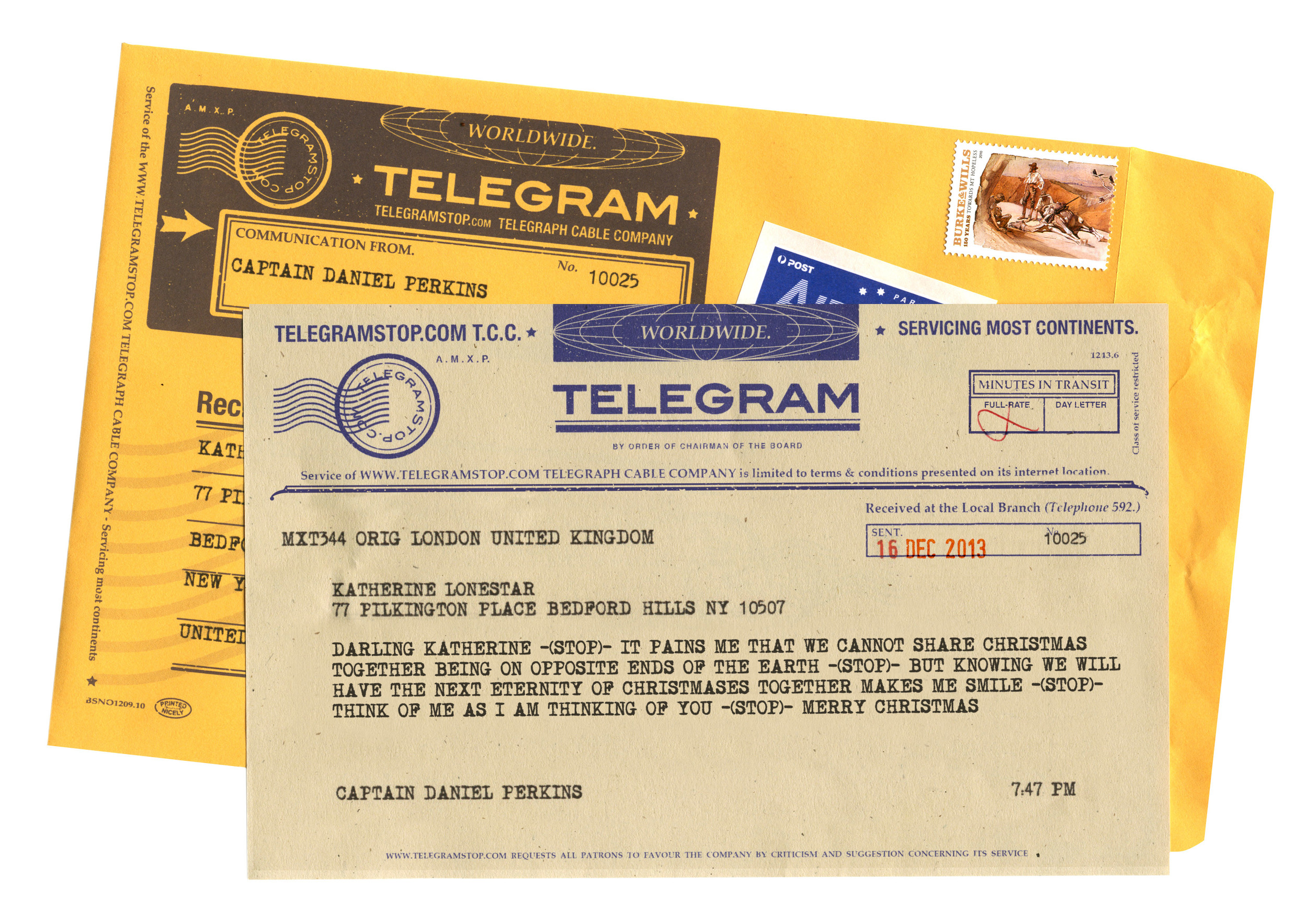 ASSOCIATED PRESS PHOTOSSend an old-timey note to a far-away loved one with one of Telegram Stops' telegrams. Compose online, and in about a week the recipient will receive the telegram in the mail.