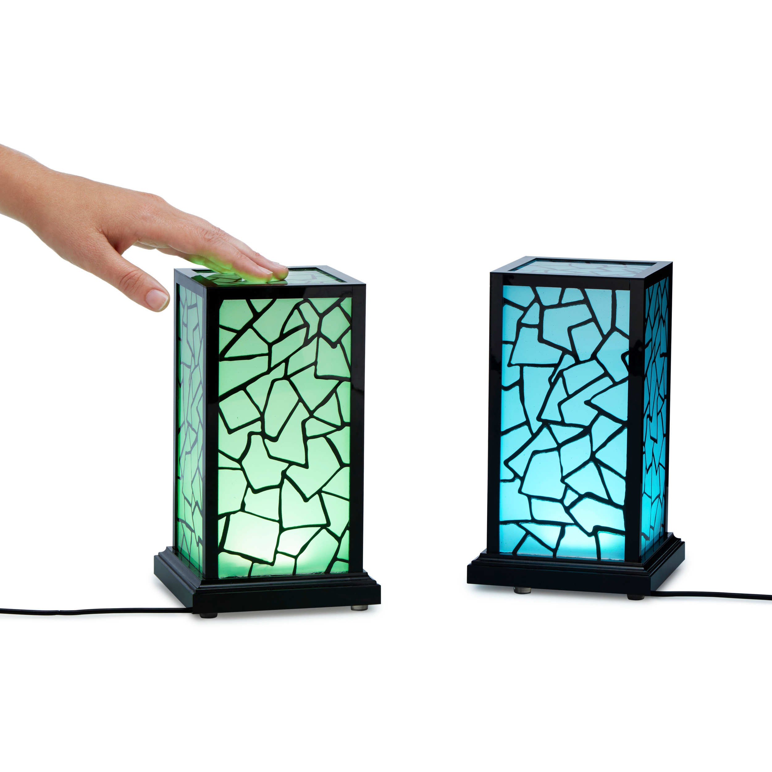 Uncommongoods Long Distance Touch Lamps are like a 'thinking of you' text in lamp form. Sync them via Wi-Fi, and then whenever one of you touches the lamp, the mate will glow.