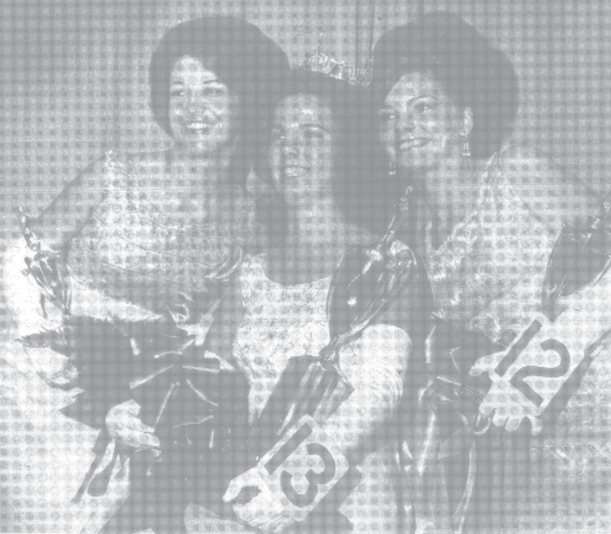 1968 - Miss Julie Helen Dean, 17, center, Miss Sumter of 1969, is flanked by the first runner-up, Stella Louise McLeod, and Kathy Jean Benbow, left, second runner-up.