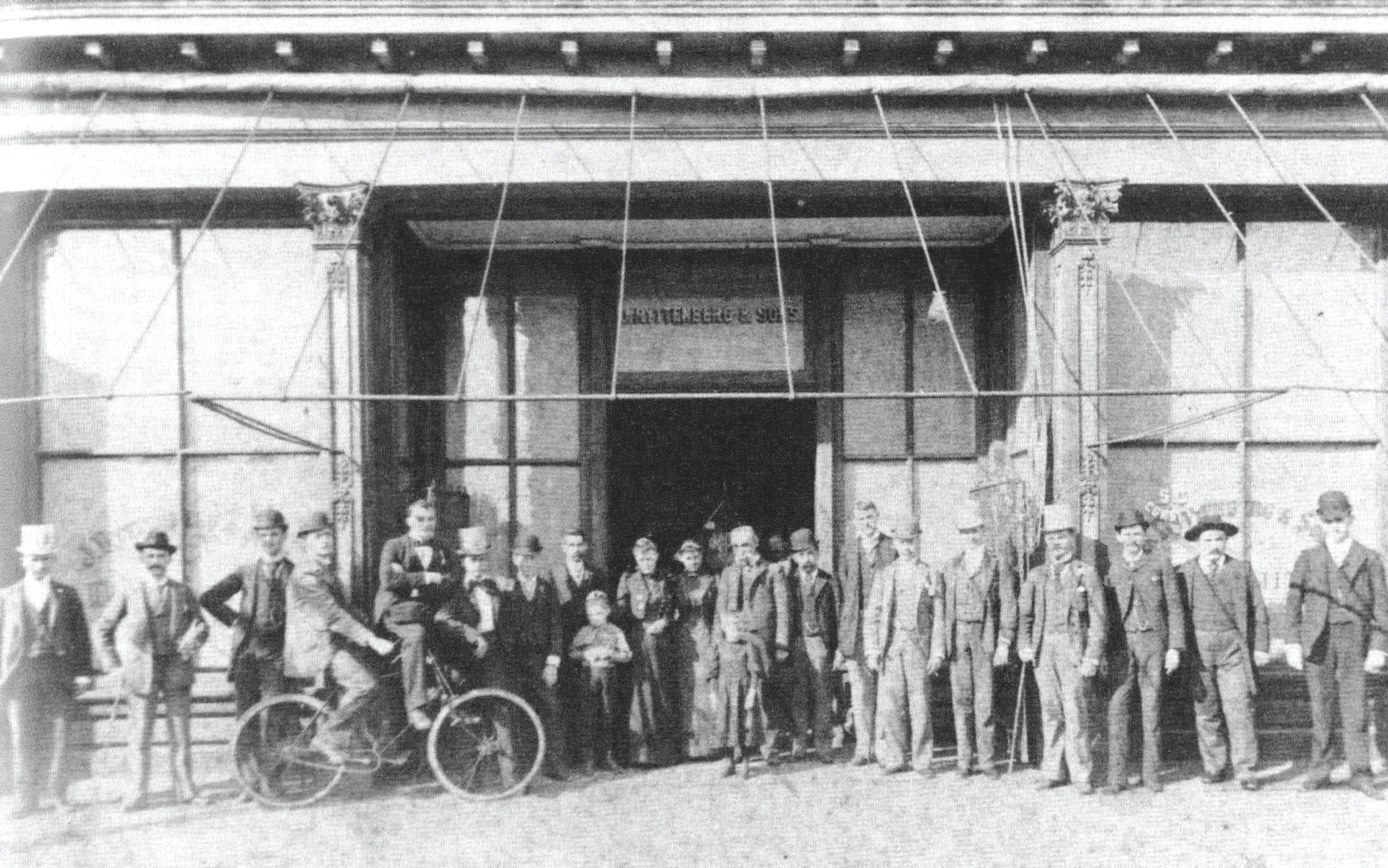 J. Ryttenberg and Sons sold general merchandise at a store built in 1881. It fronted Main and Liberty streets, and the firm also owned a large cotton plantation, steam gin and grist mill. They also owned Sumter Brick Yards, and all the bricks in the store were made by them.
